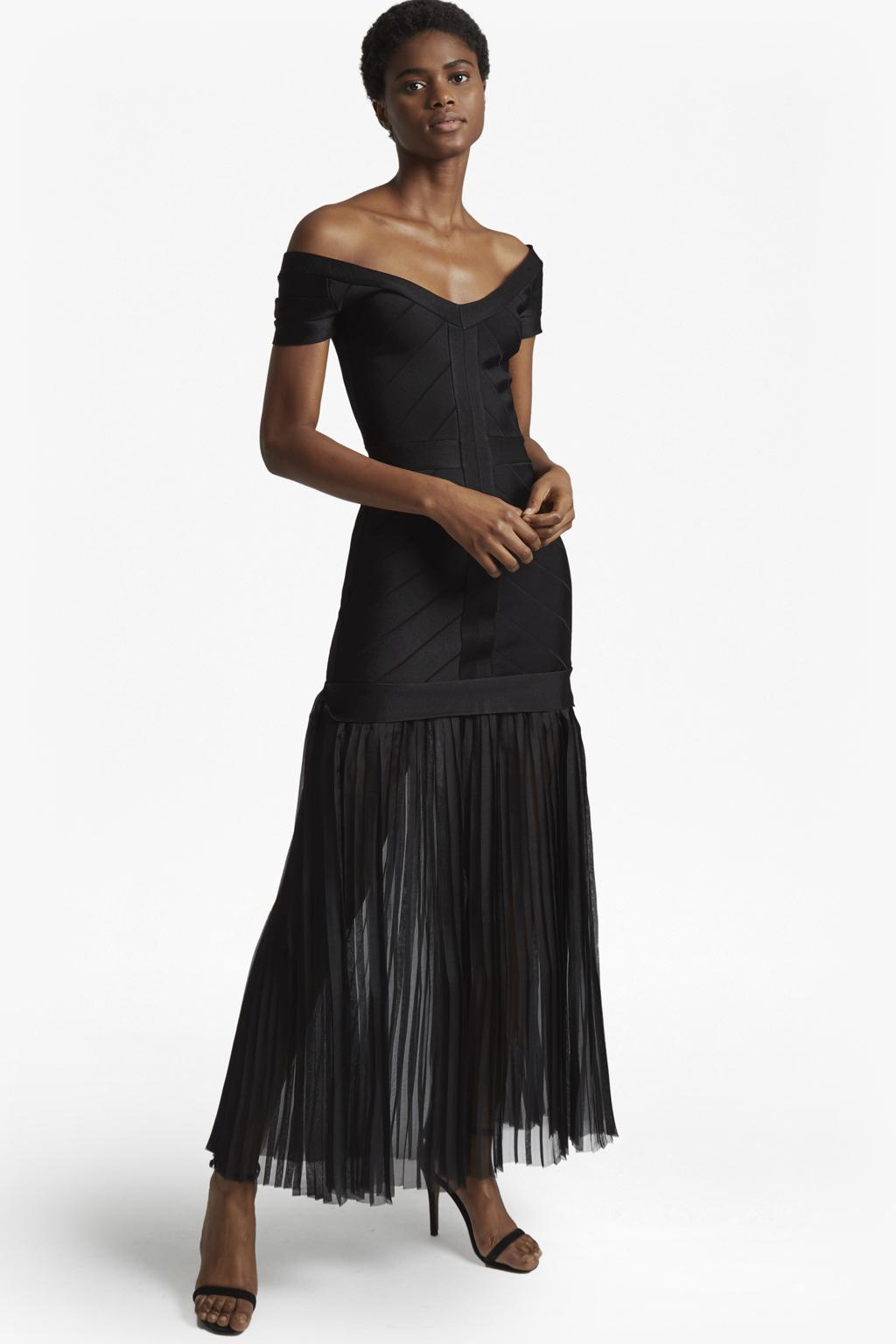 bcc86ca908d2d French Connection Rosa Spotlight Off-shoulder Maxi Dress in Black - Lyst