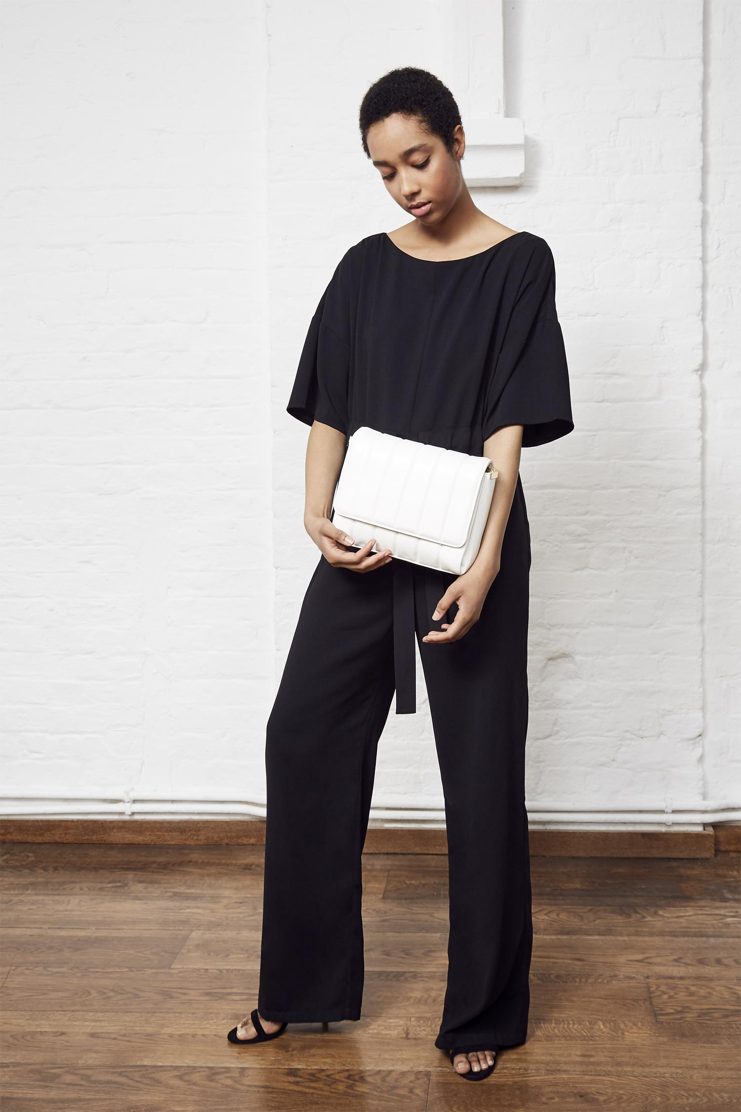 690397d9b125 Lyst - French Connection Patras Crepe Jumpsuit in Black