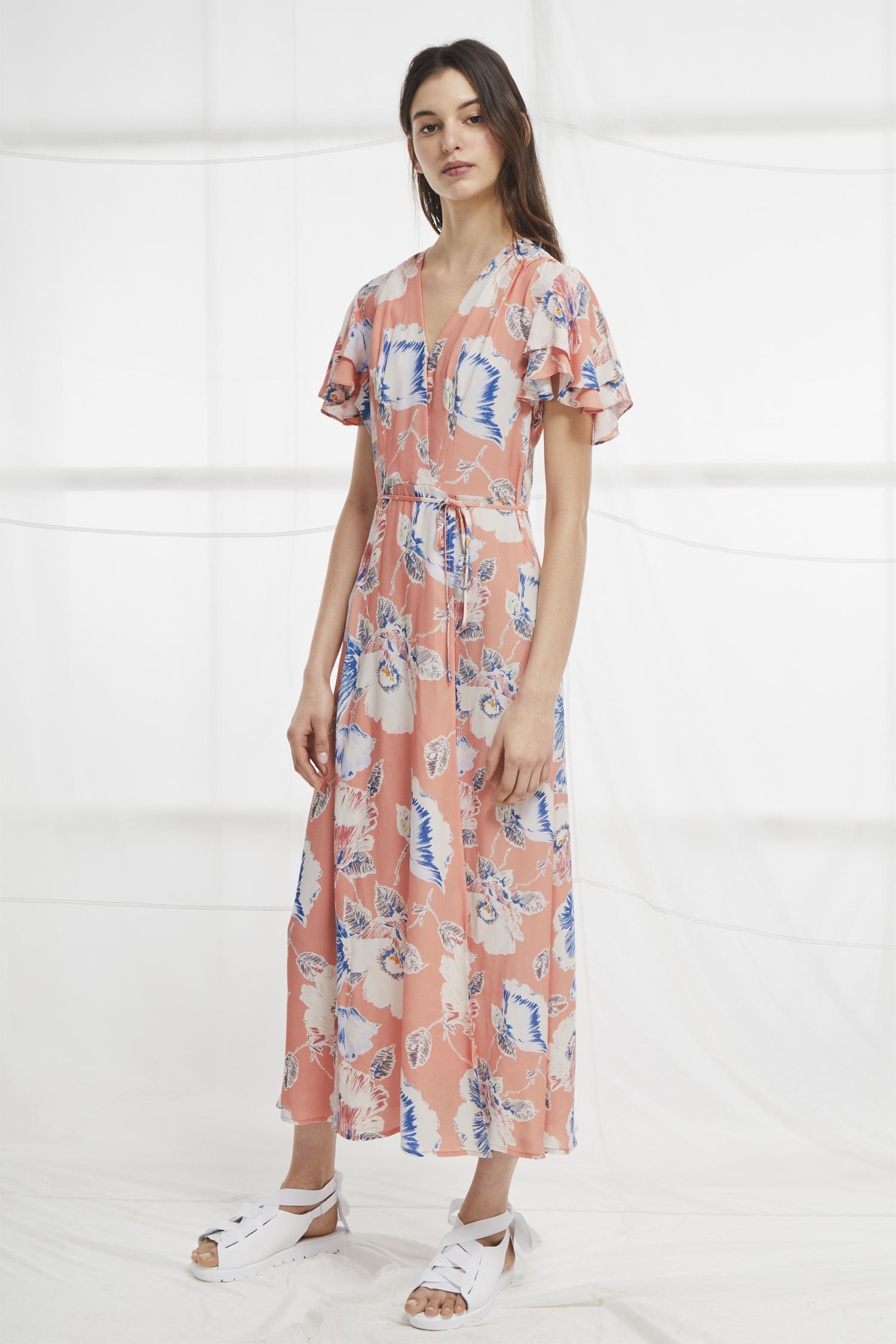 bedddd6b00 French Connection Cari Crepe Midi Tea Dress - Lyst