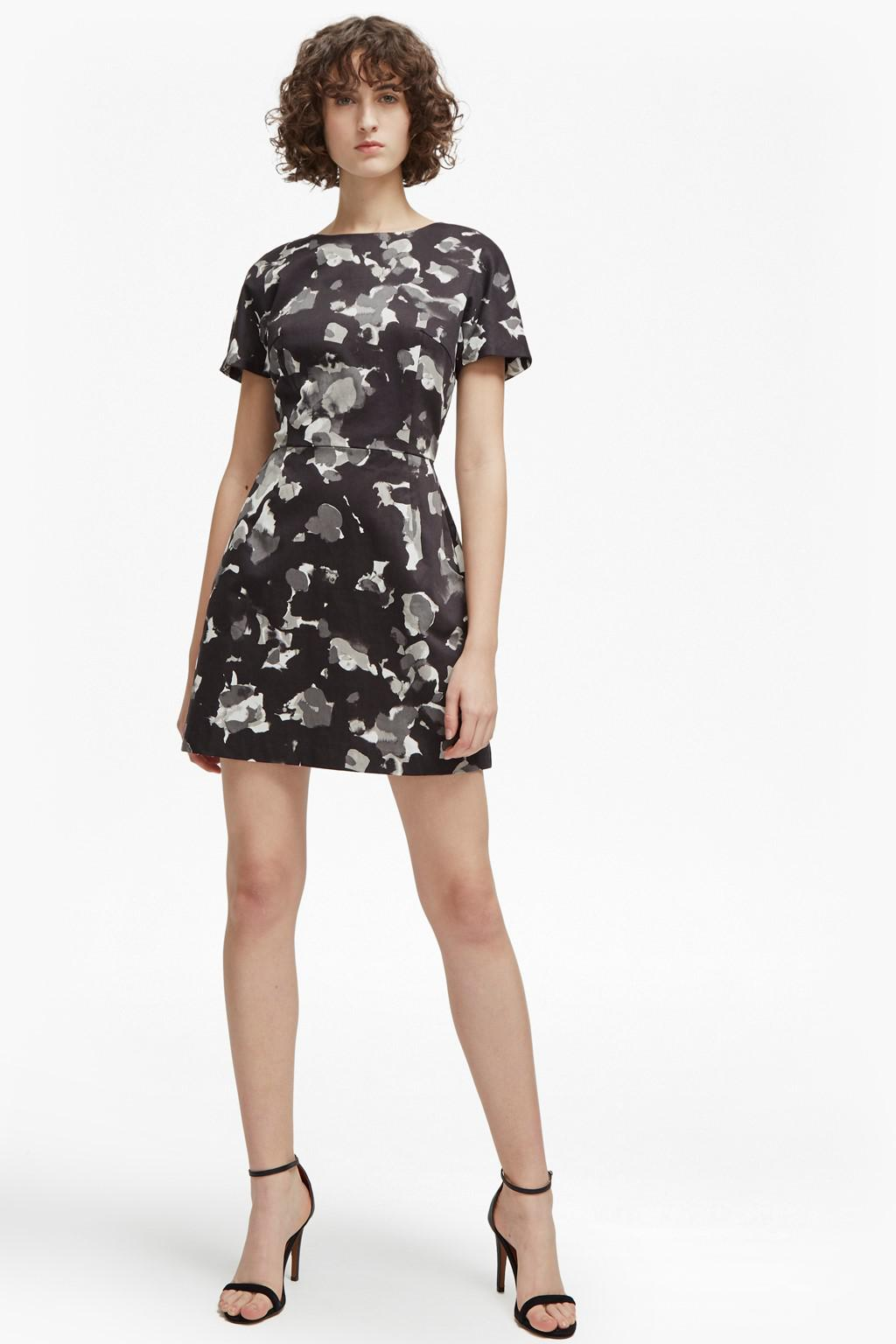 Lyst - French Connection Balla Camo Dress in Black