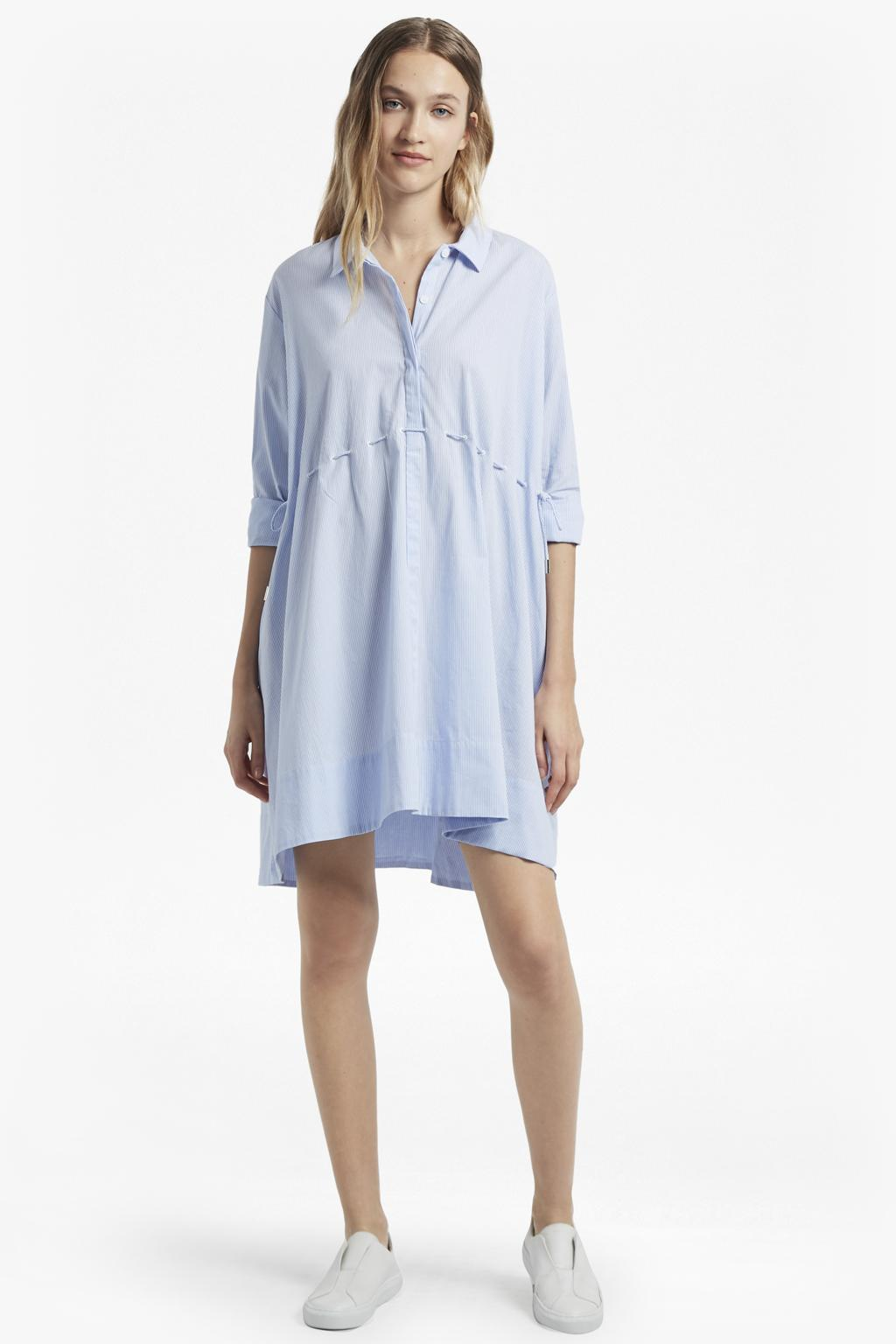 ceeb12c6f64 French Connection Smithson Striped Cotton Shirt Dress in Blue - Lyst