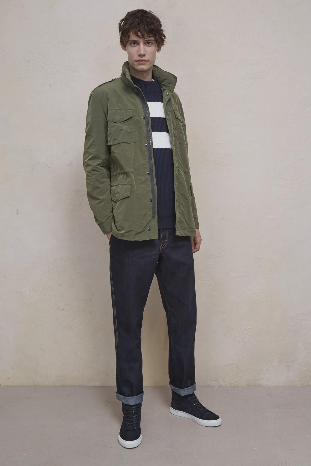 29d64df31 French Connection Wax Sanded Field Jacket in Green for Men - Lyst