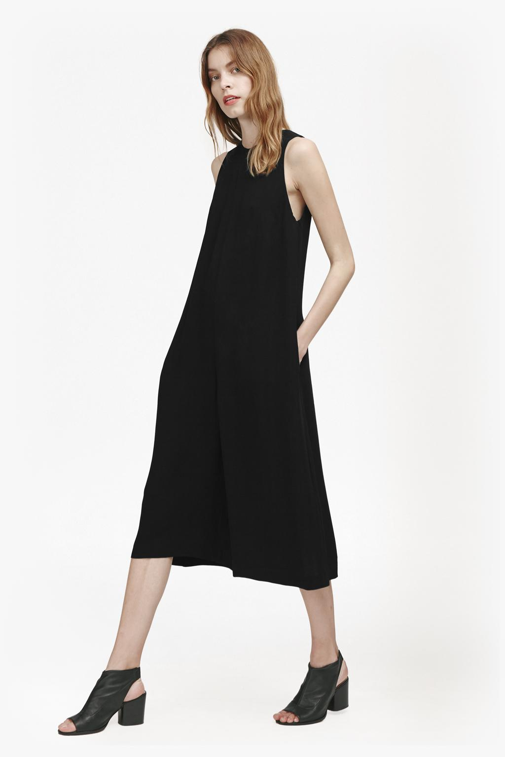 1be838d6aa1 French Connection Evening Dew Sleeveless Jumpsuit in Black - Lyst