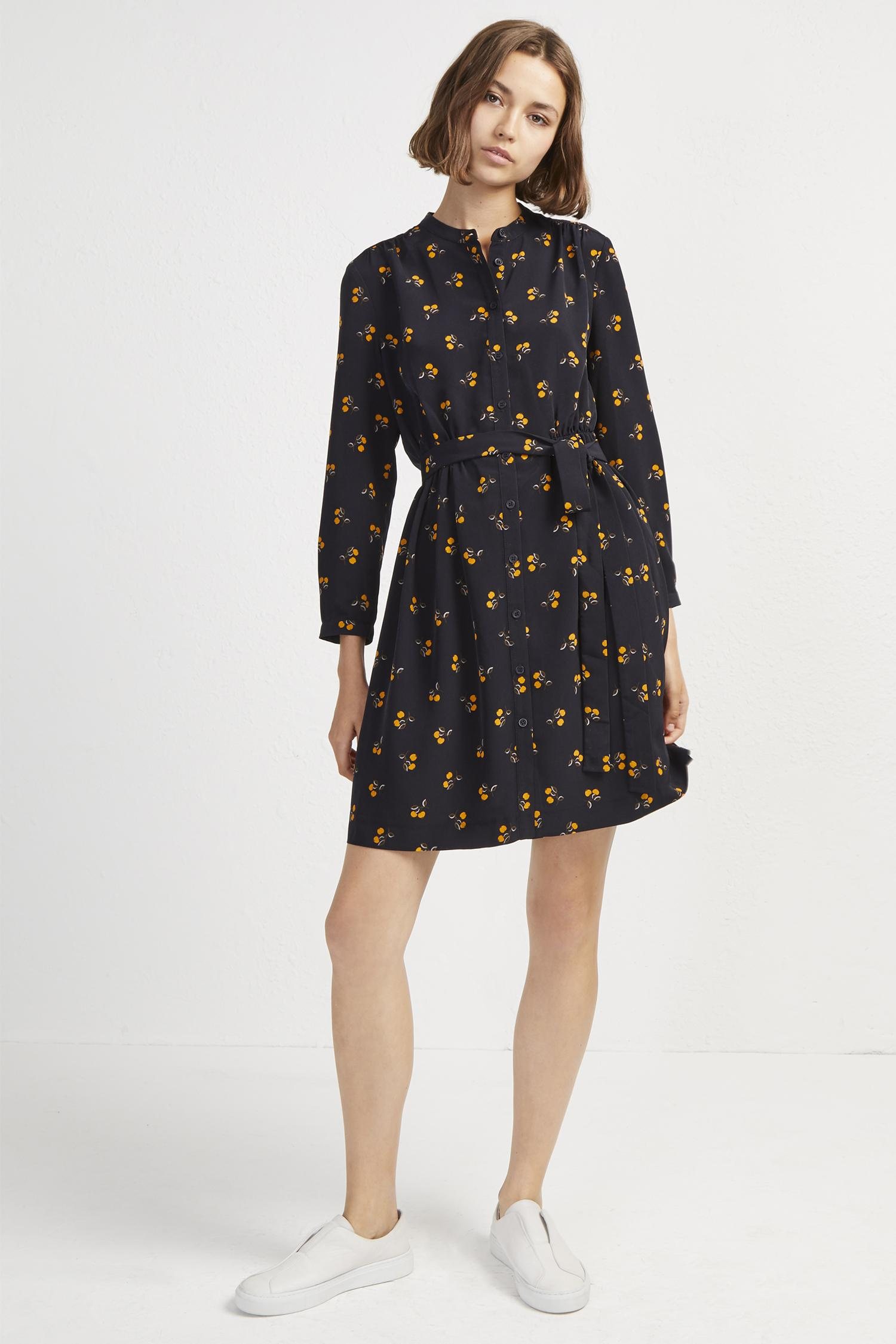 4fcf78c4e84 Lyst - French Connection Hester Drape Belted Shirt Dress