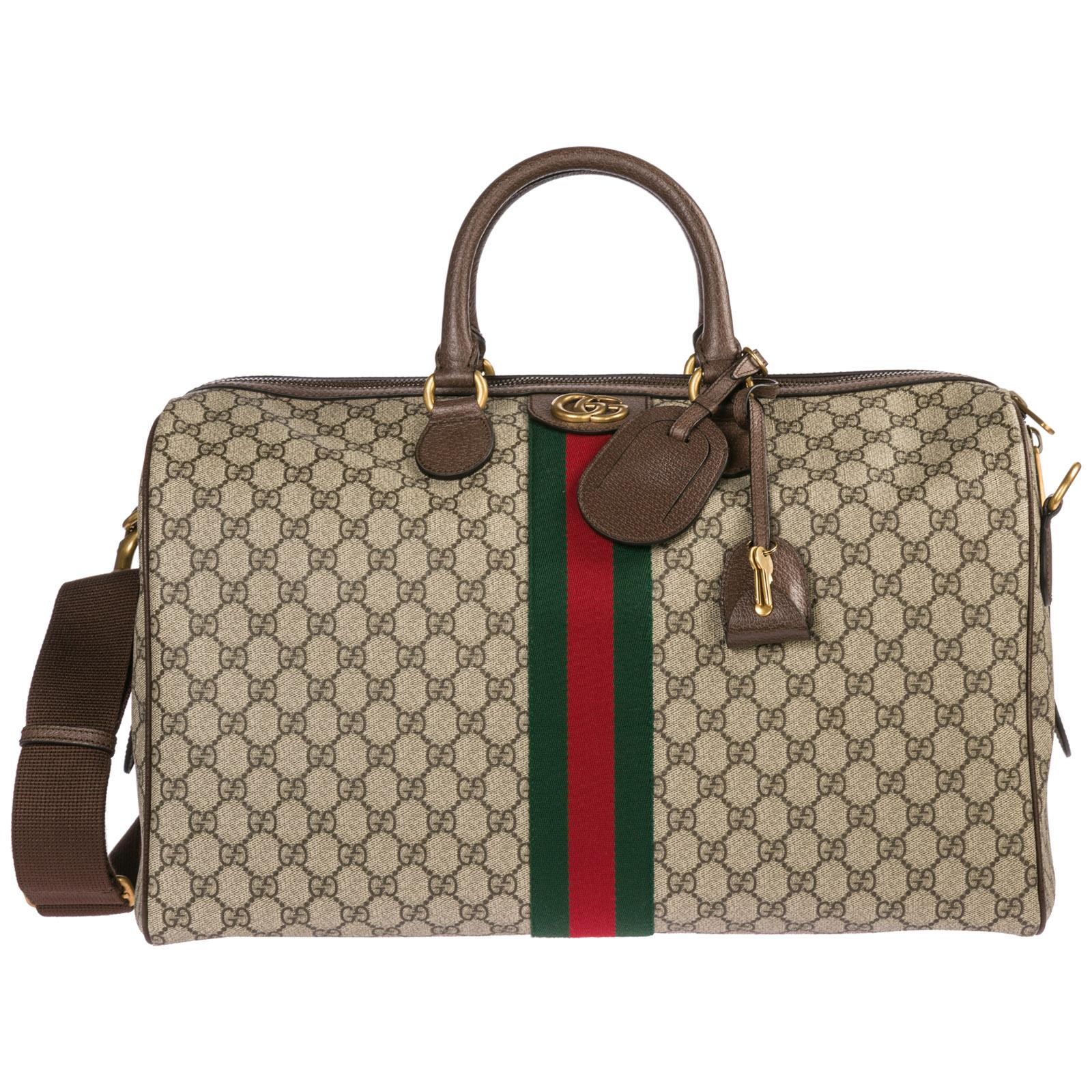 ead42e5f80 Gucci. Men's Natural Genuine Leather Travel Duffle Weekend Shoulder Bag  Ophidia