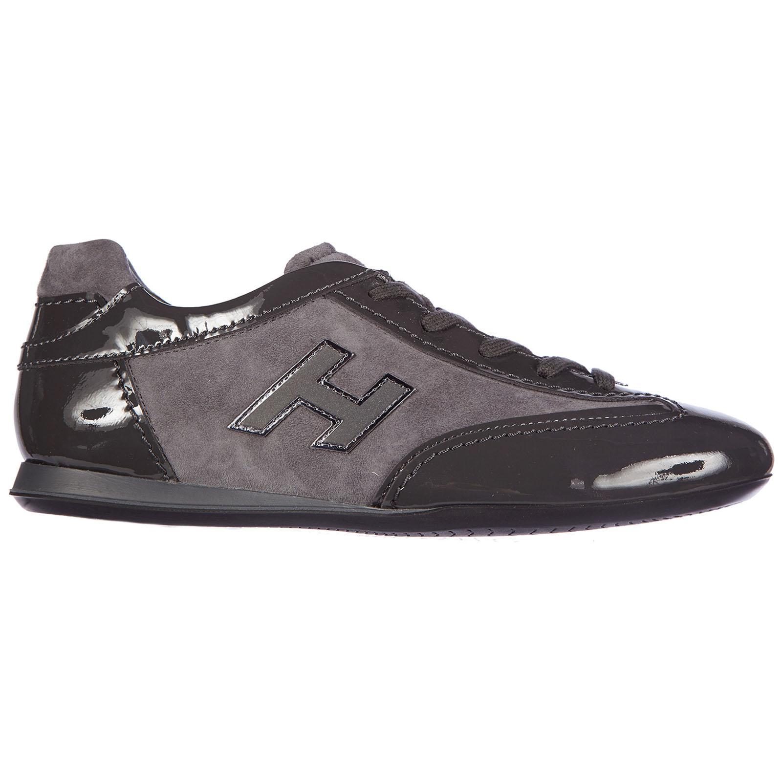 Lyst - Hogan Scarpe Sneakers Donna In Pelle Olympia H Flock 65fd44d816f
