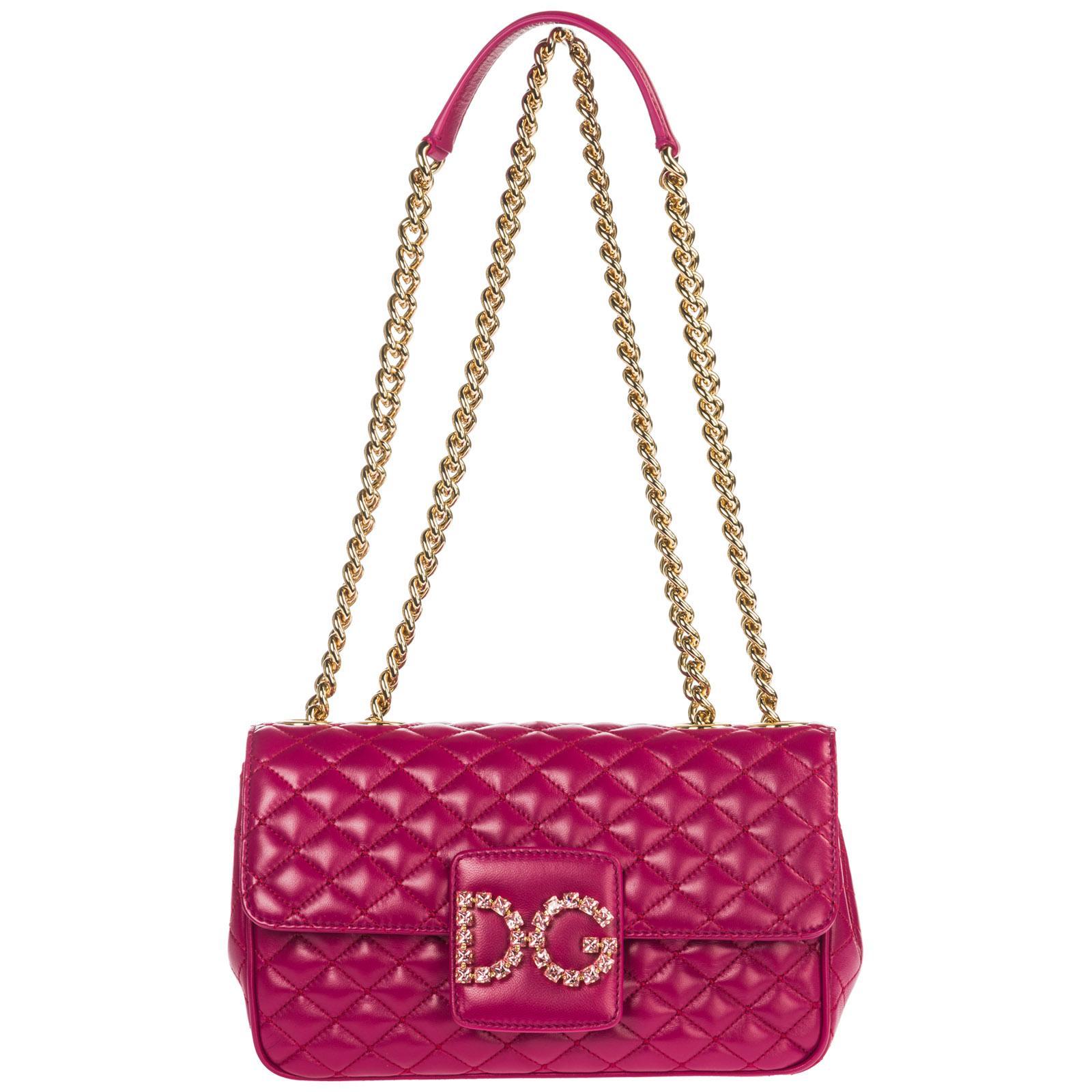 Dolce   Gabbana - Pink Leather Shoulder Bag Dg Millennials - Lyst. View  fullscreen 445bc034a5