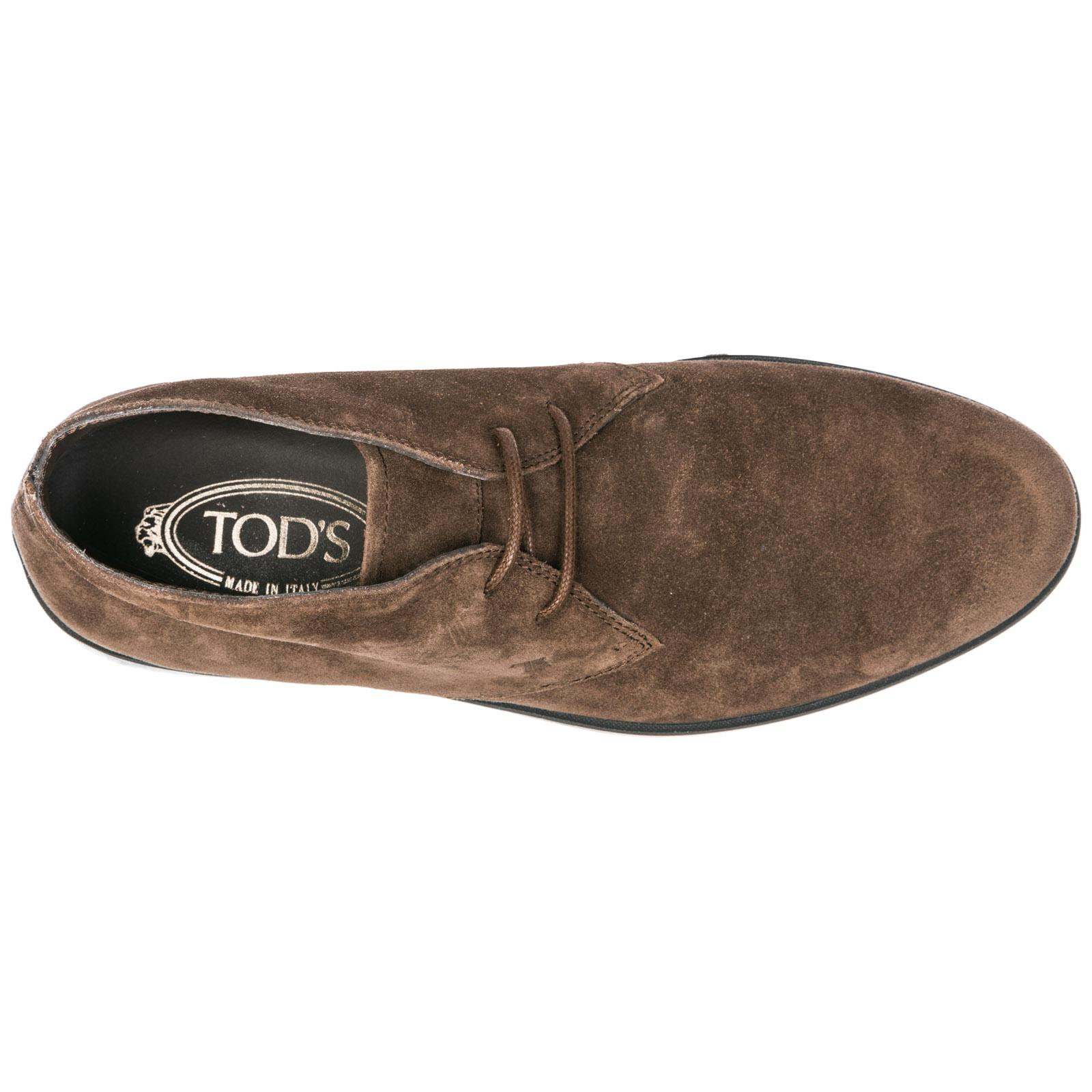 07f019890 Tod s - Brown Suede Desert Boots Lace Up Ankle Boots for Men - Lyst. View  fullscreen