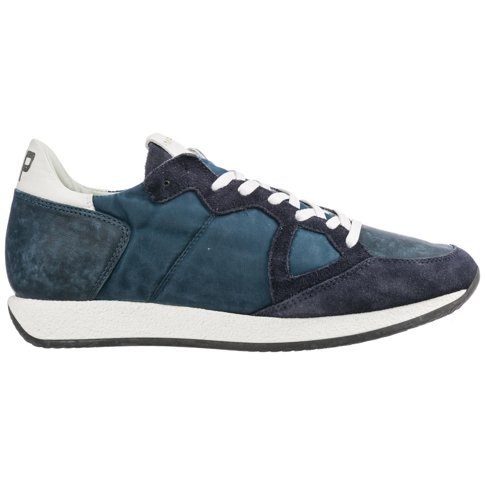 e6402b5d4c3 Lyst - Philippe Model Scarpe Sneakers Uomo Camoscio Monaco in Blue ...