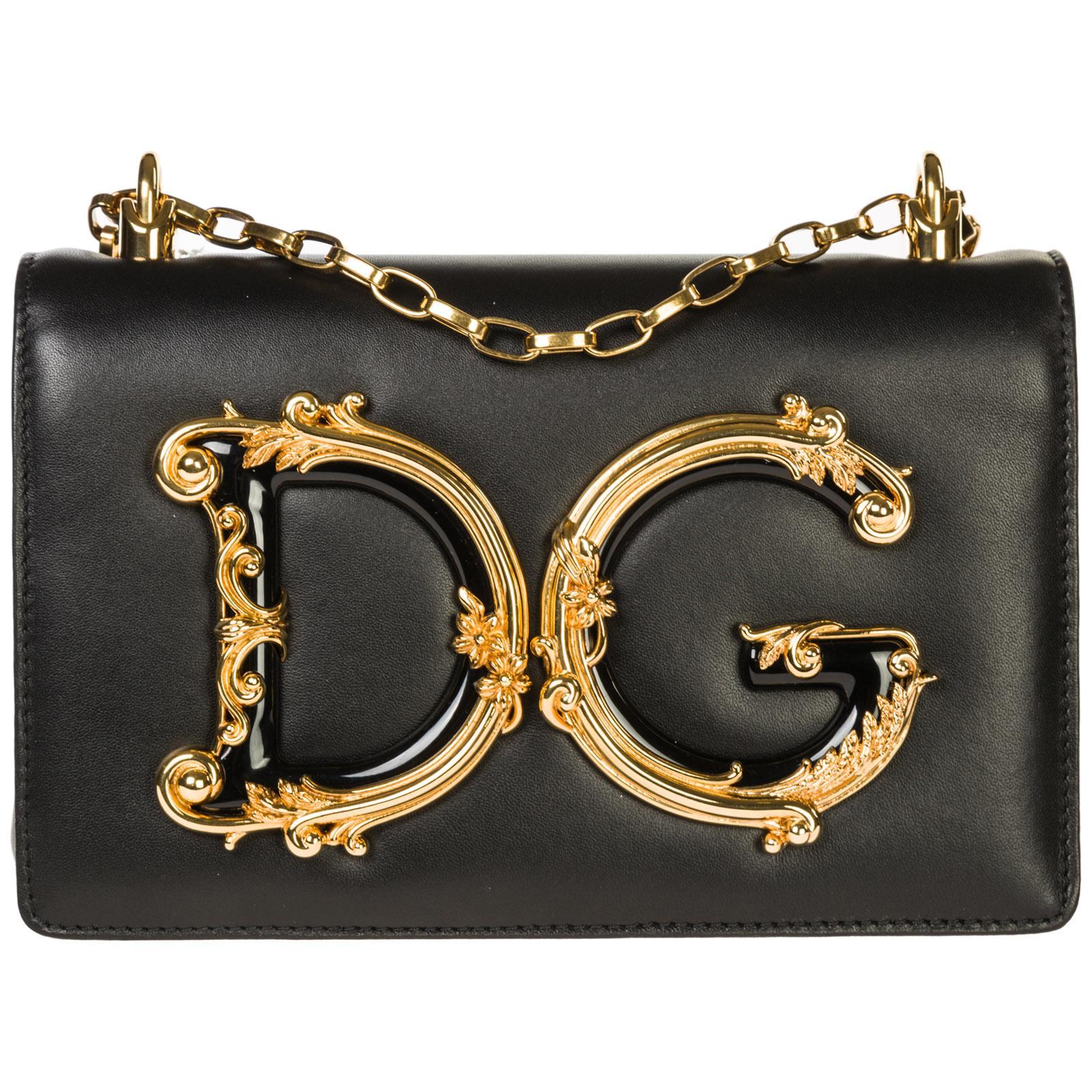 adf99c907985 Lyst - Dolce   Gabbana Leather Shoulder Bag Dg Girls in Black