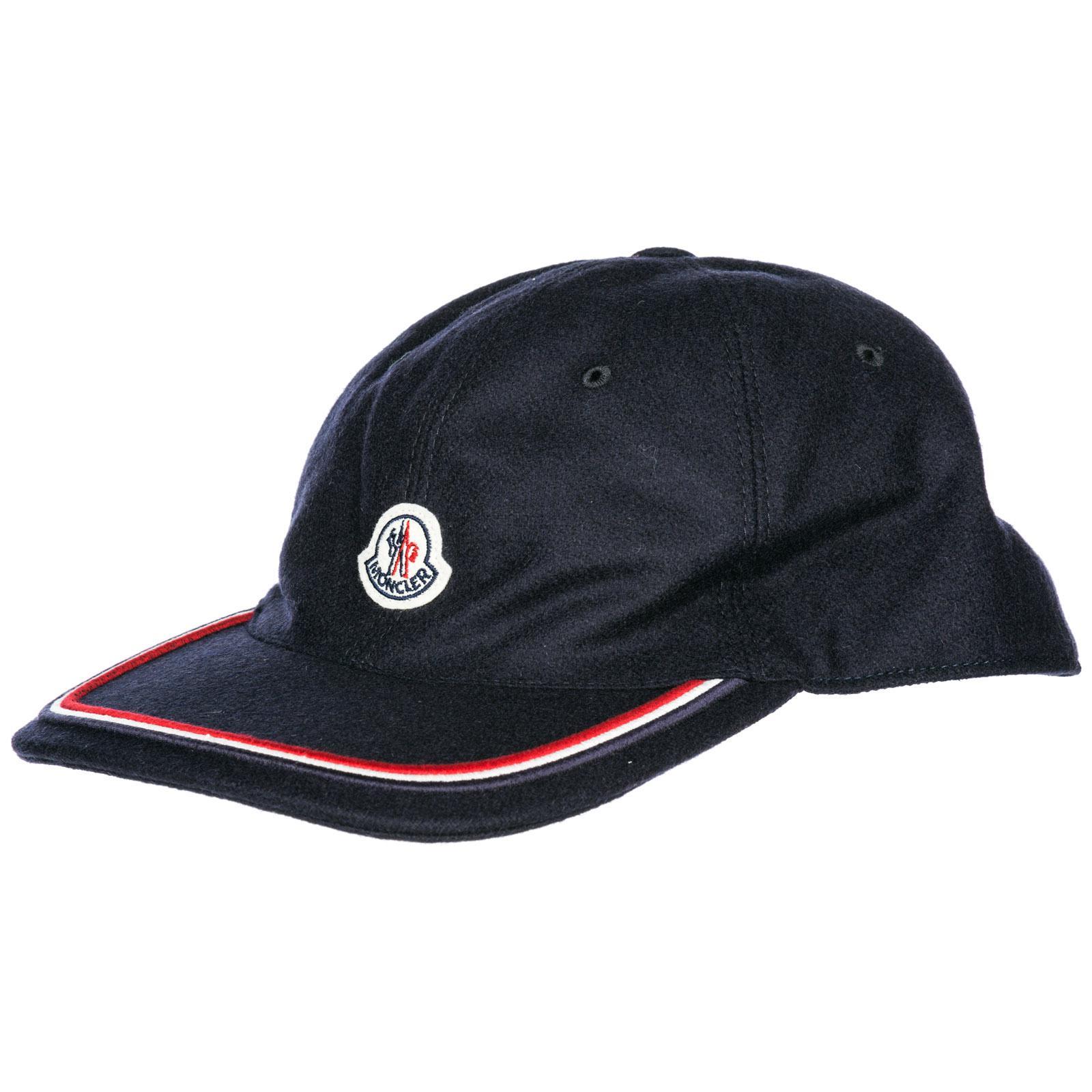 Lyst - Moncler Adjustable Cotton Hat Baseball Cap in Blue for Men ... 407ac56e0df2
