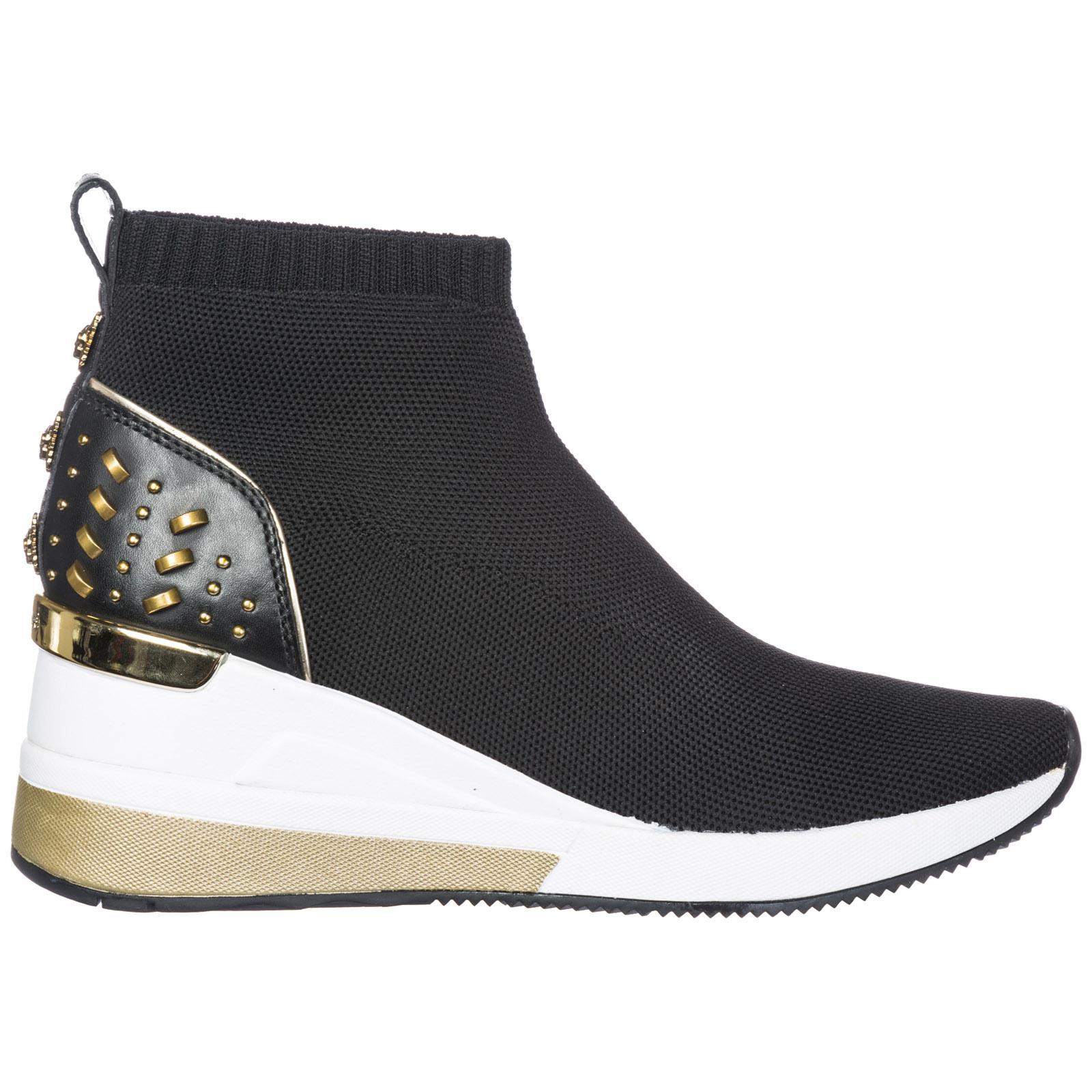 d7c69d5f6b8c Michael Kors Slip On Sneakers Skyler in Black - Lyst