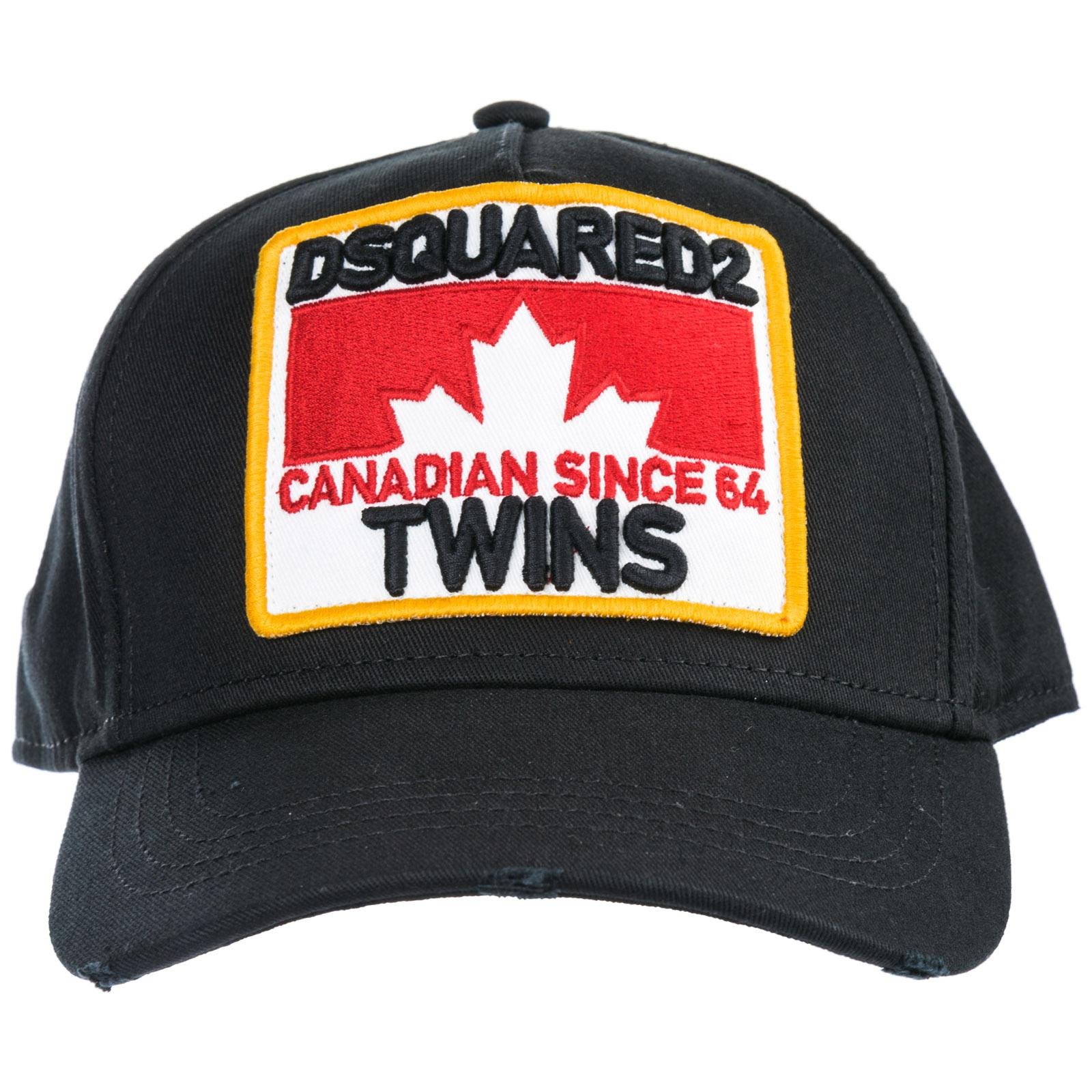 5a4add53 Lyst - DSquared² Adjustable Cotton Hat Baseball Cap Twins in Black ...