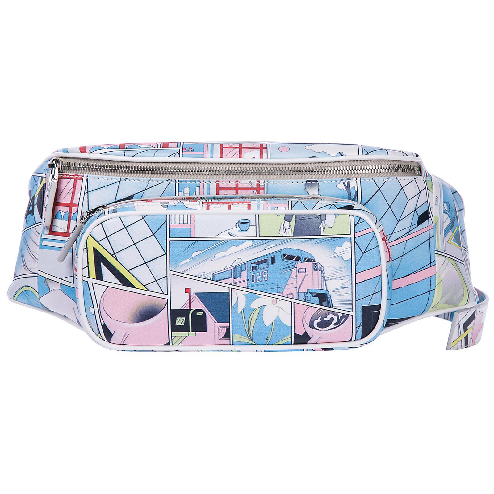 58159e7f927943 Lyst - Prada Leather Belt Bum Bag Hip Pouch Comics in Blue for Men