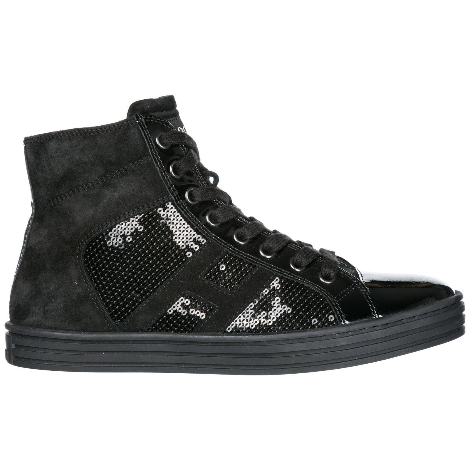 63ad4c05017 Lyst - Hogan Rebel Shoes High Top Suede Trainers Sneakers R141 in Black
