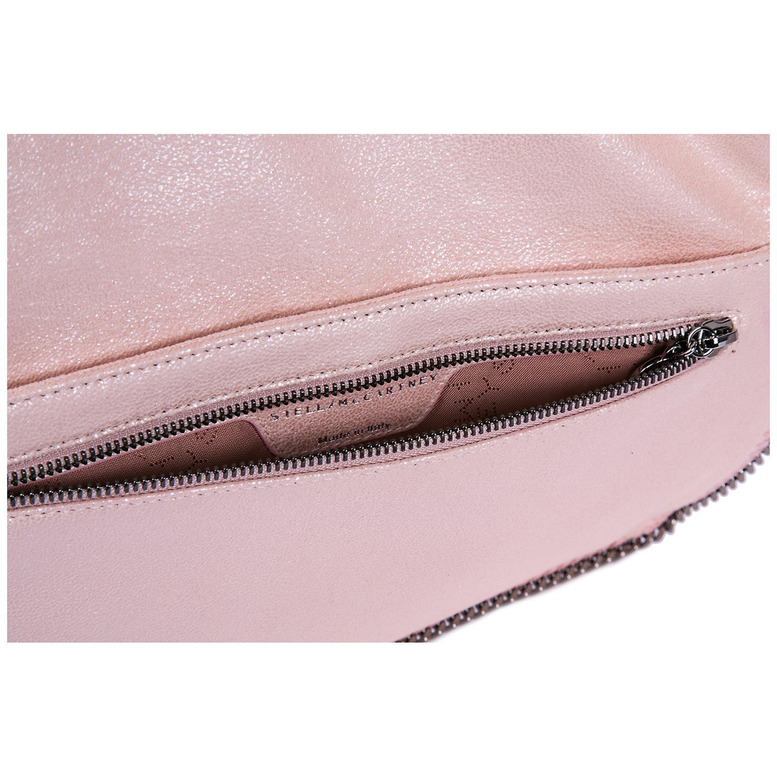 Stella McCartney - Pink Clutch Handbag Bag Purse Falabella Fold Over shaggy  Deer - Lyst. View fullscreen bee2137b49742