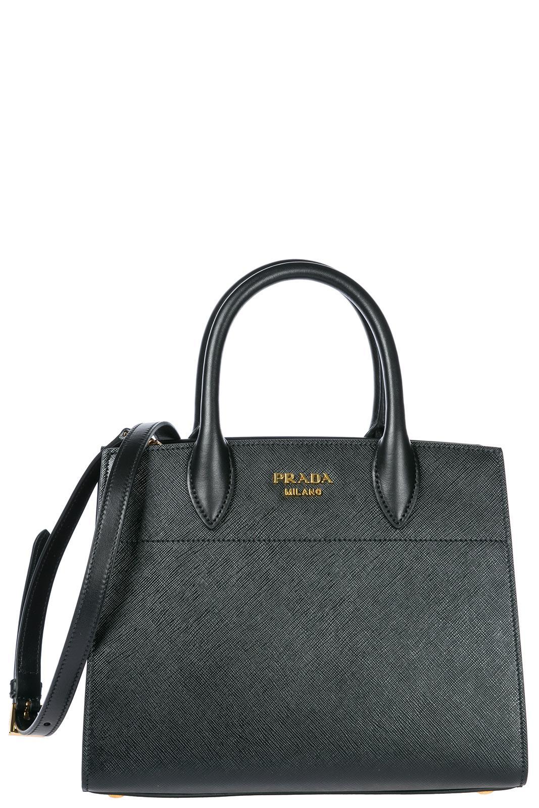 Satchel Bags - Shoulder Bag Grained Leather Nero - black - Satchel Bags for ladies Prada SxSe15eH