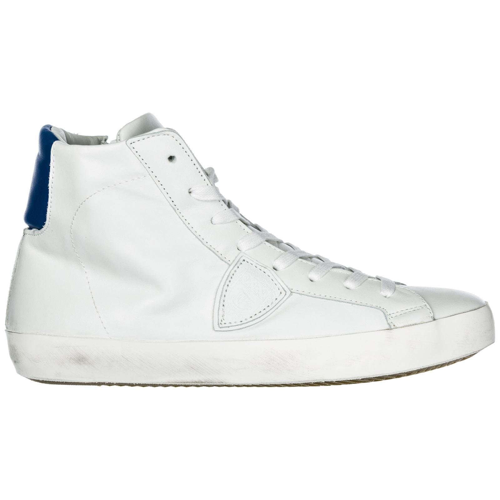 744abbf486d Lyst - Philippe Model Shoes High Top Leather Trainers Sneakers Paris ...