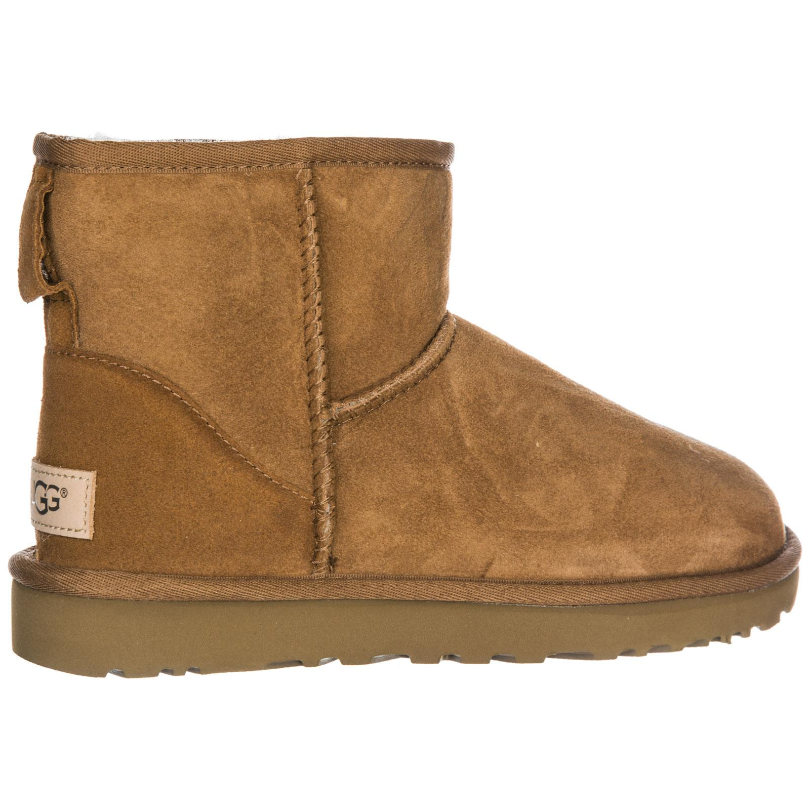 3ab762cf96d Lyst - UGG Suede Boots Classic Mini Ii in Brown
