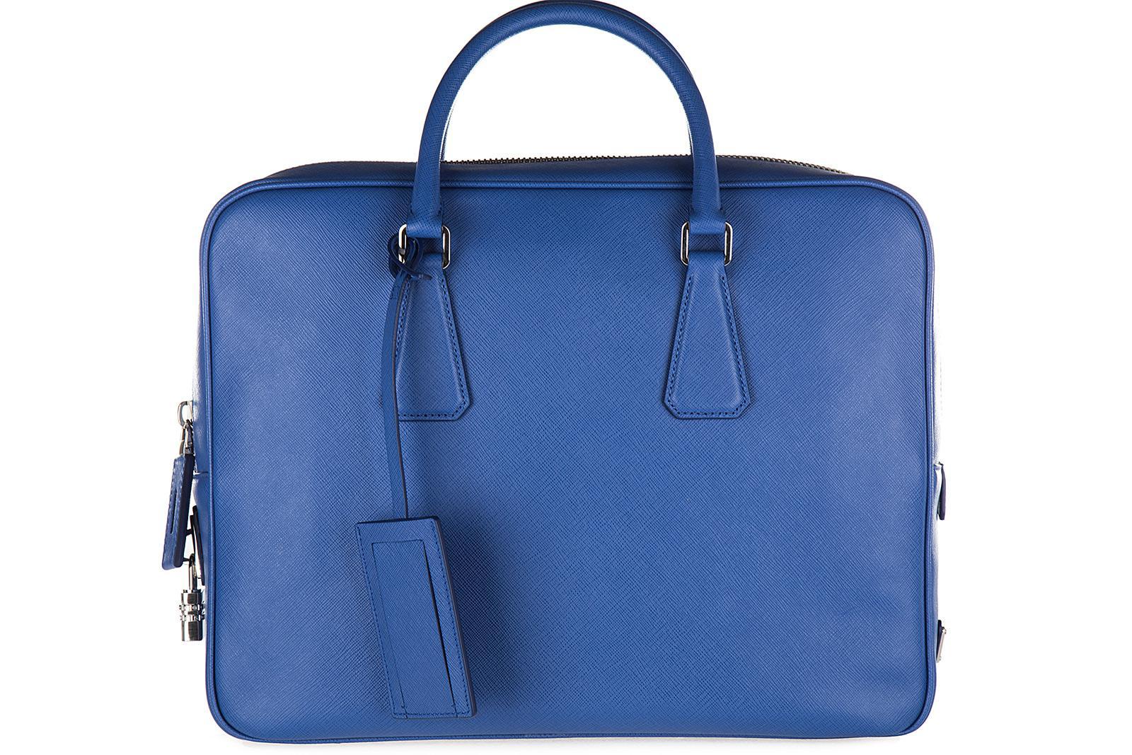 ecc7317163eb Lyst - Prada Briefcase Attaché Case Laptop Pc Bag Leather Saffiano ...
