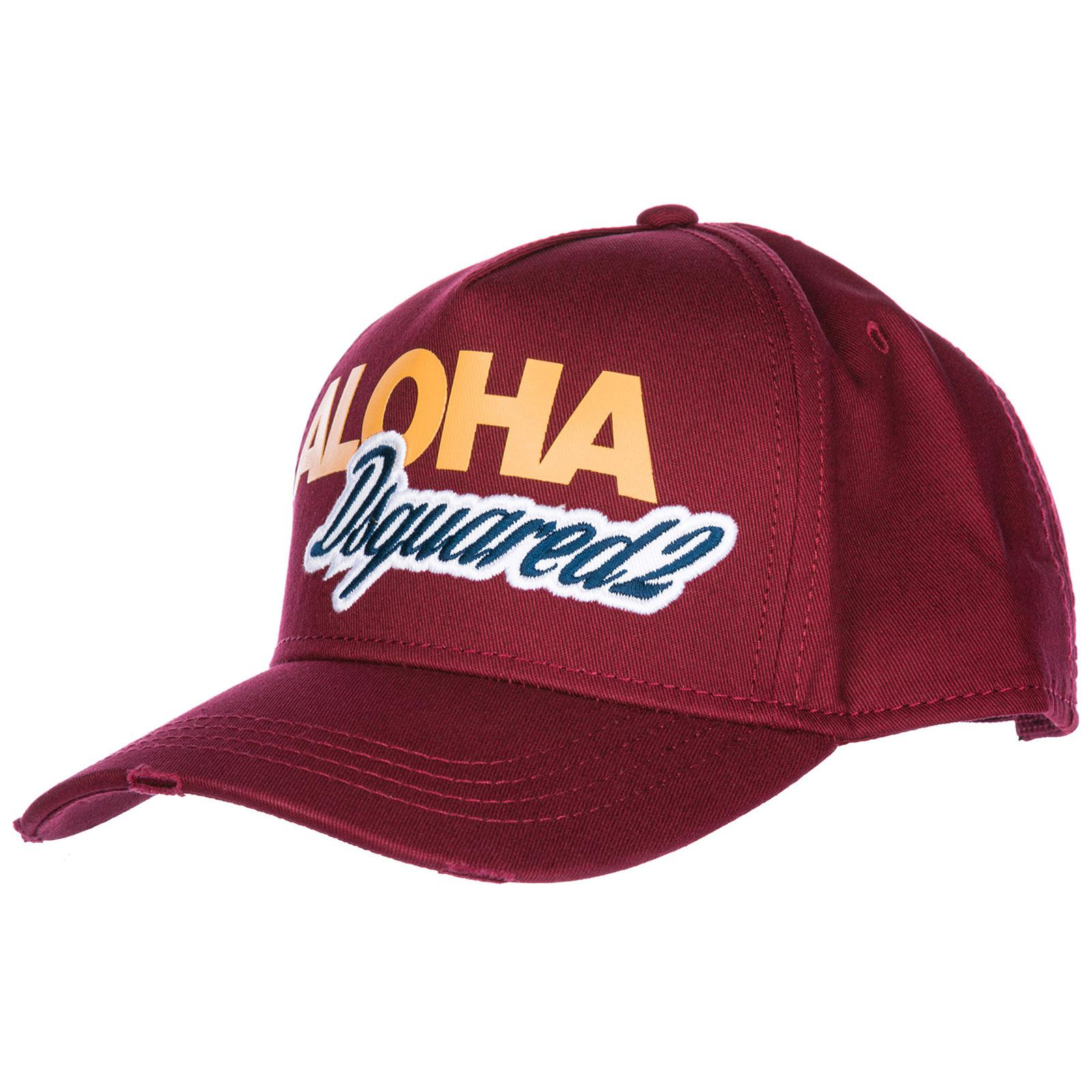 44c9d8a66bab0 DSquared² Adjustable Cotton Hat Baseball Cap Aloha Baseball in Red ...