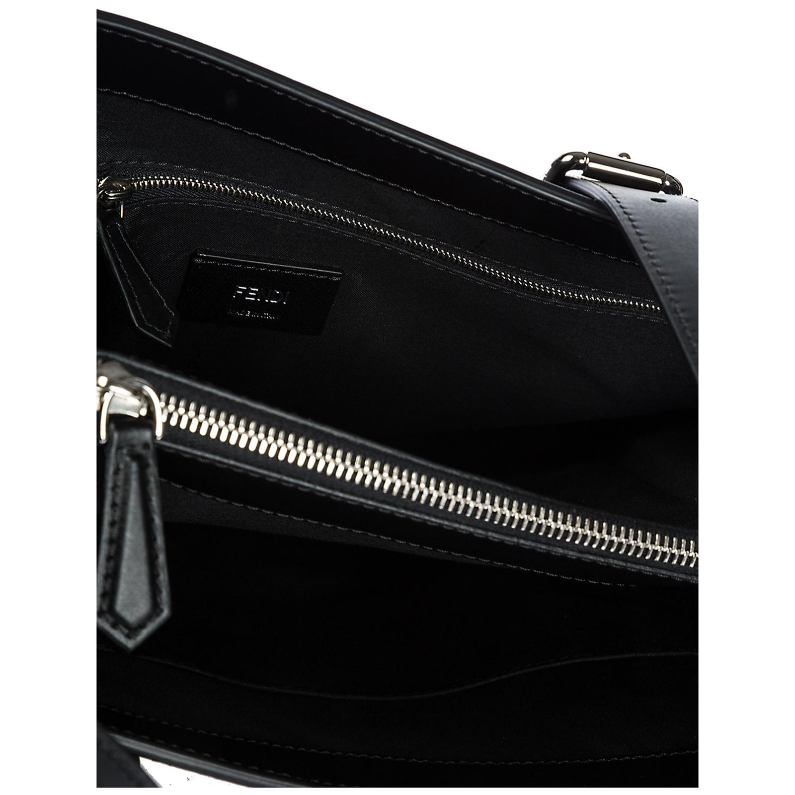 ef7a4f905c Lyst - Fendi Bag Handbag Shopping Tote Pelle in Black - Save ...