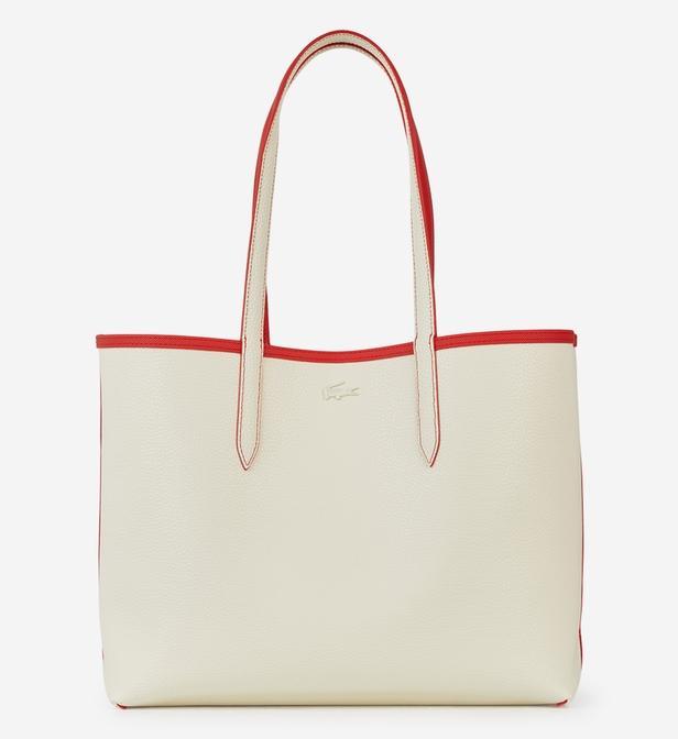 78dc78c48f Sac shopping Anna réversible Lacoste en coloris Rouge - Lyst
