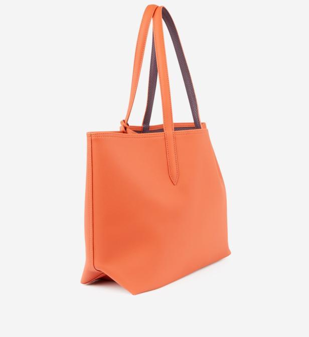 8445b2e21c En Shopping Coloris Lacoste Réversible Orange Sac Lyst Anna XaxSwPx1