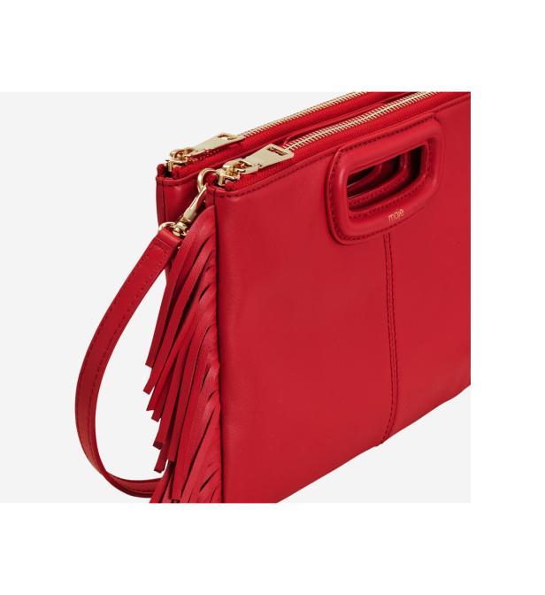 Coloris Maje M En Duo Rouge Sac Leather Lyst Besace j5A3qR4L