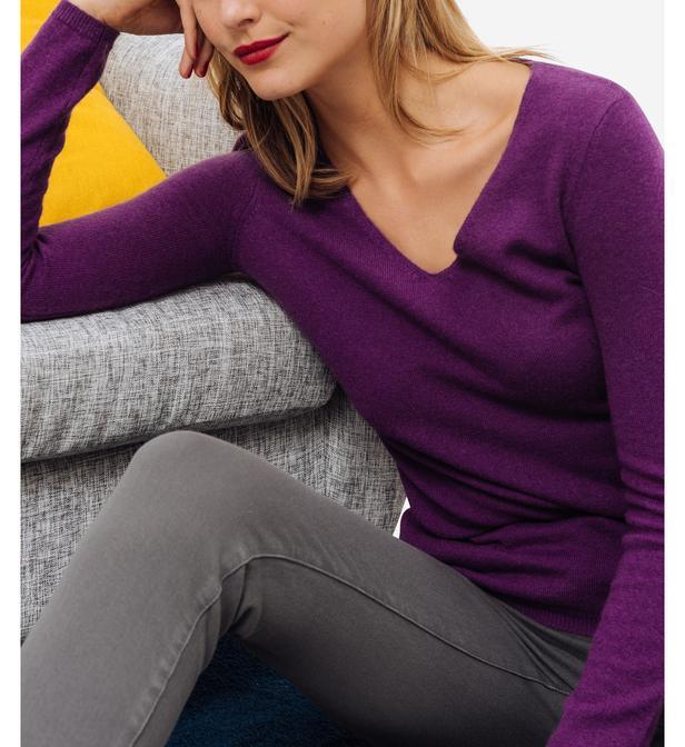 a3b1d2b6df1 Lyst - Pull femme en cachemire Evans CAROLL en coloris Violet