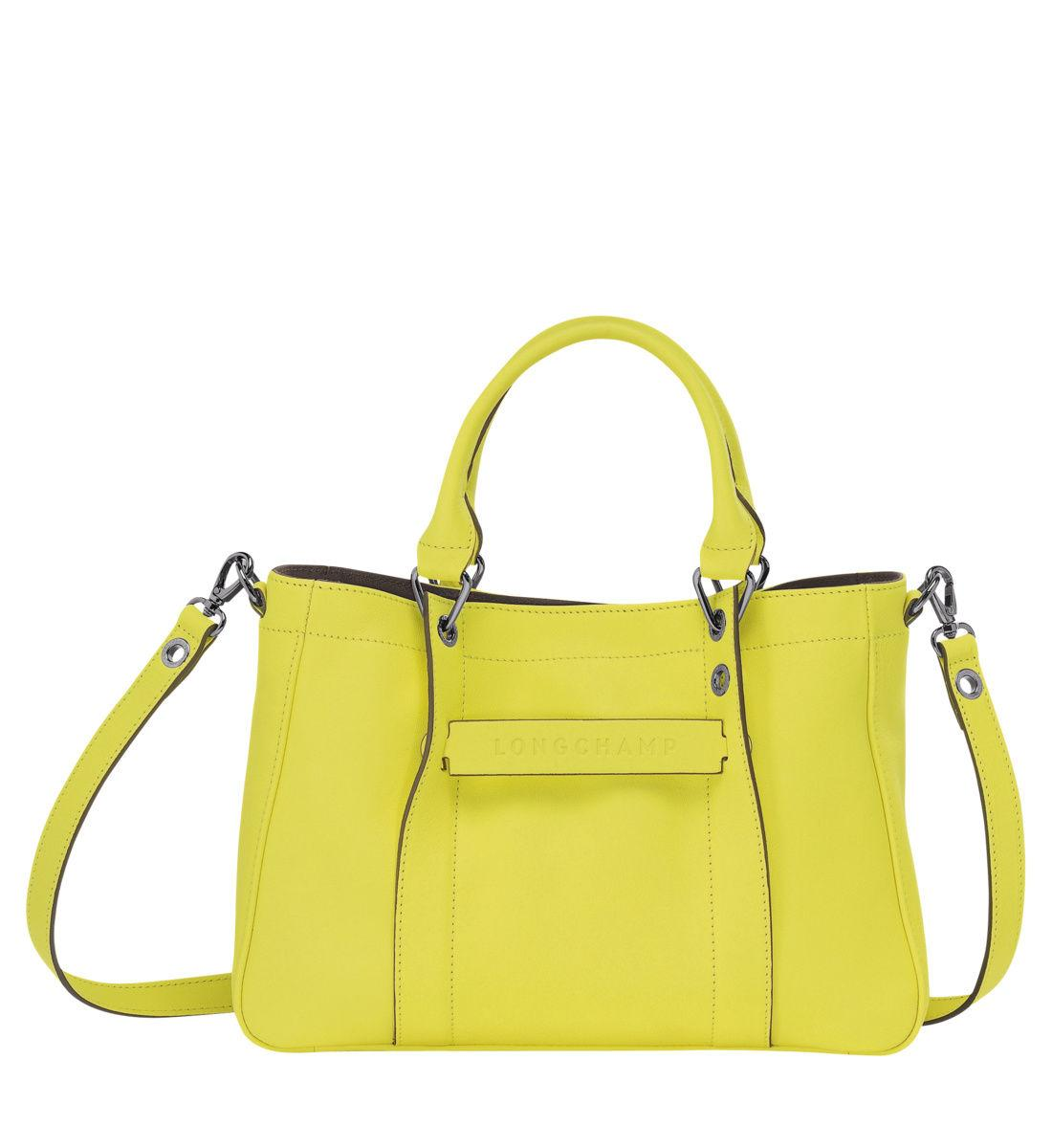 3d Jaune S Lyst Sac Coloris Longchamp Main Porté En HD29IE