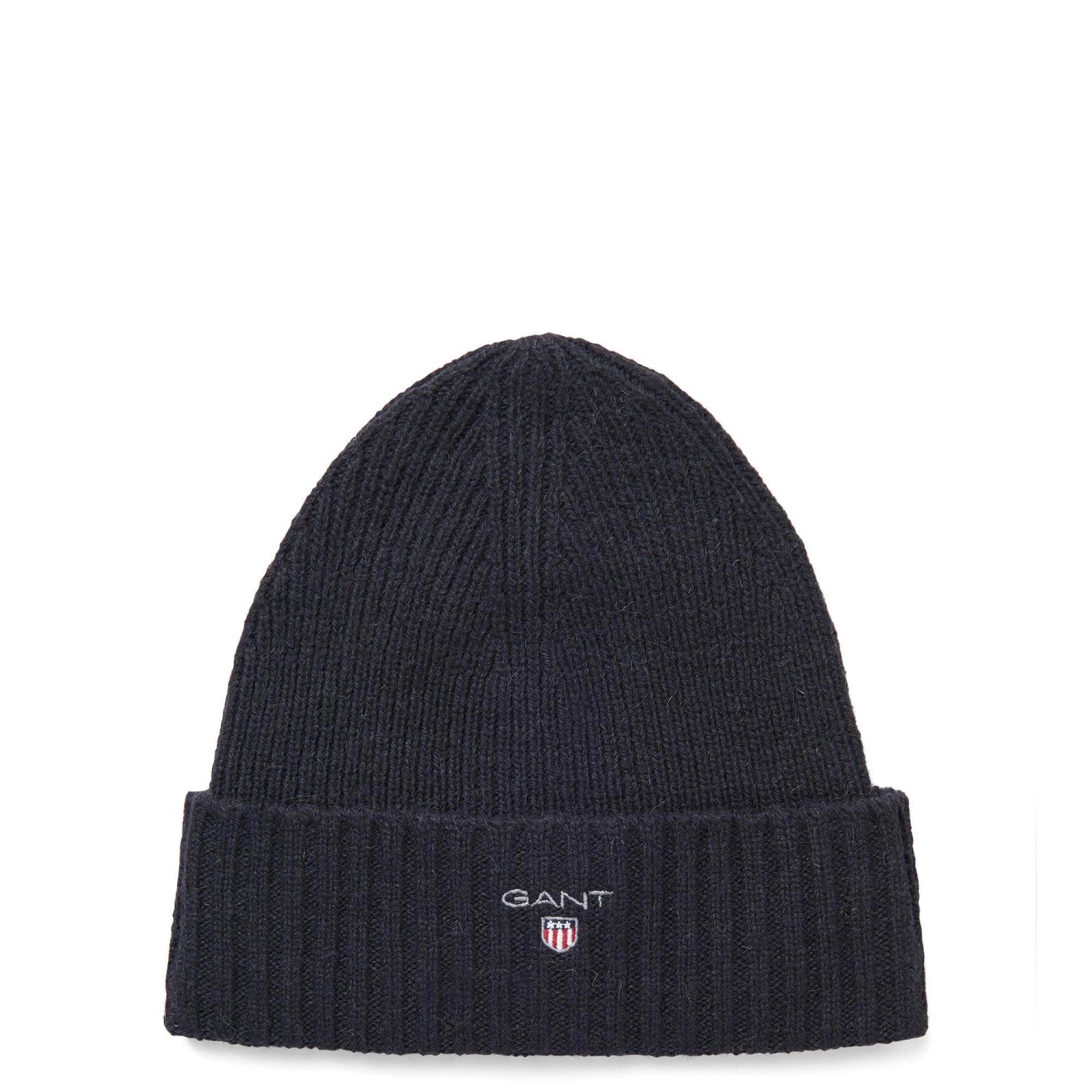 Gant Wool Lined Beanie in Black for Men - Lyst 0ba9e5e2223