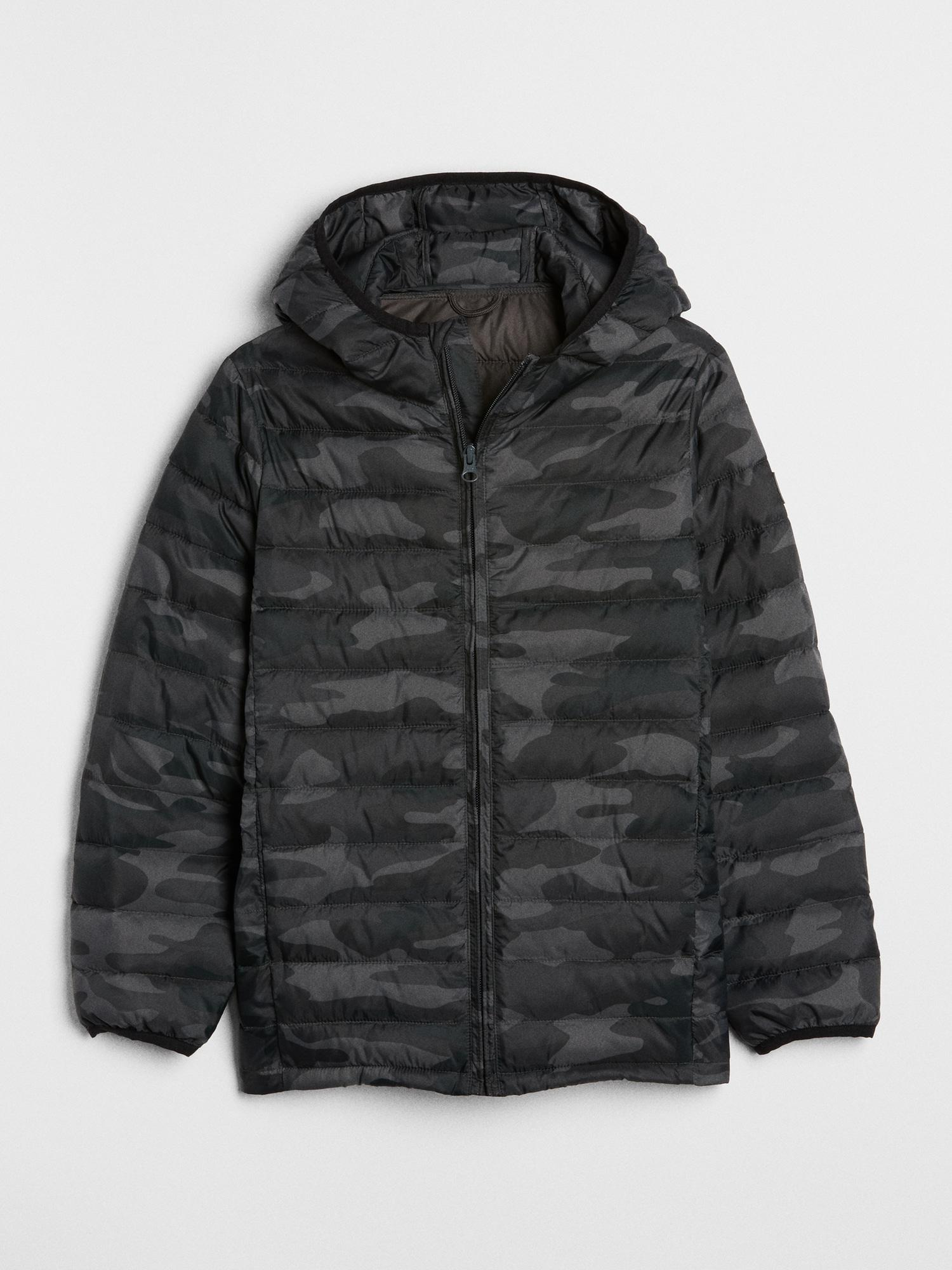cf5928f1b Lyst - Gap Coldcontrol Lightweight Camo Puffer Jacket in Black for Men