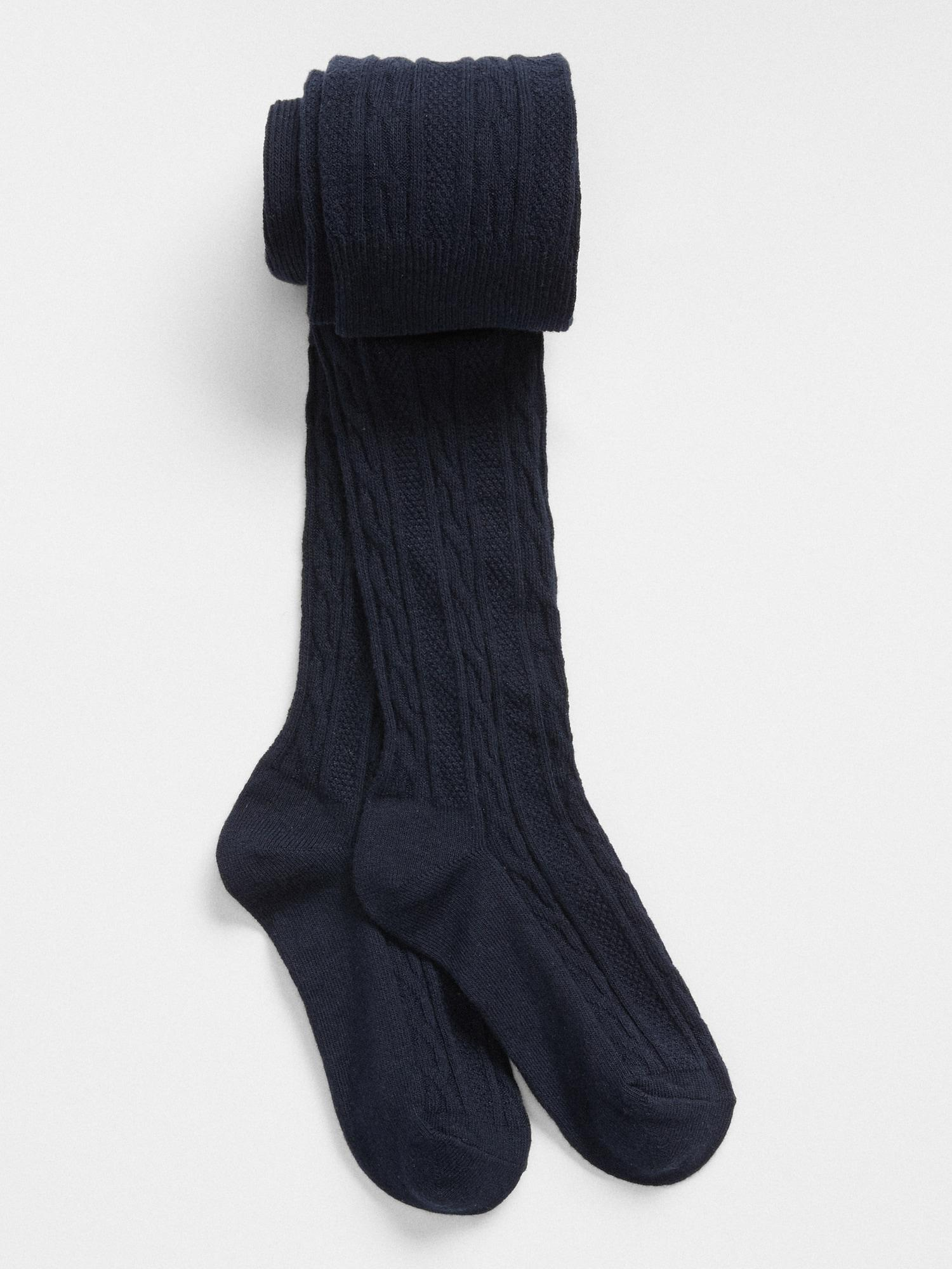 86161ad4ffe Lyst - Gap Cable-knit Tights in Blue