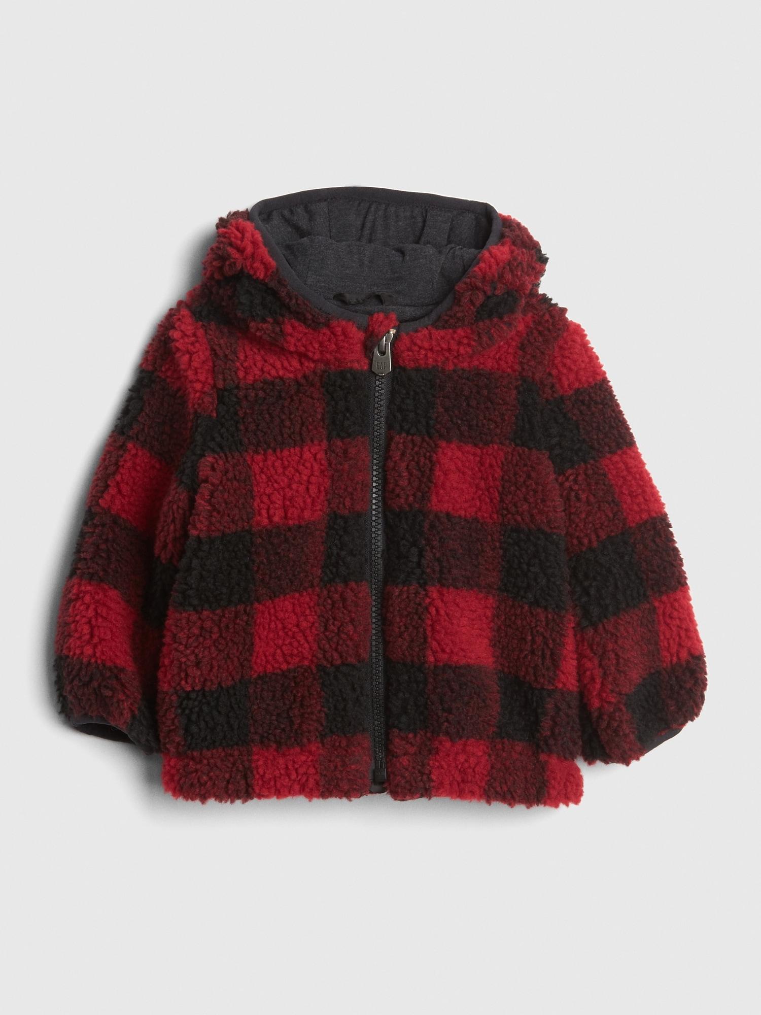 3c561e6e Gap Print Sherpa Hoodie Jacket in Red - Lyst