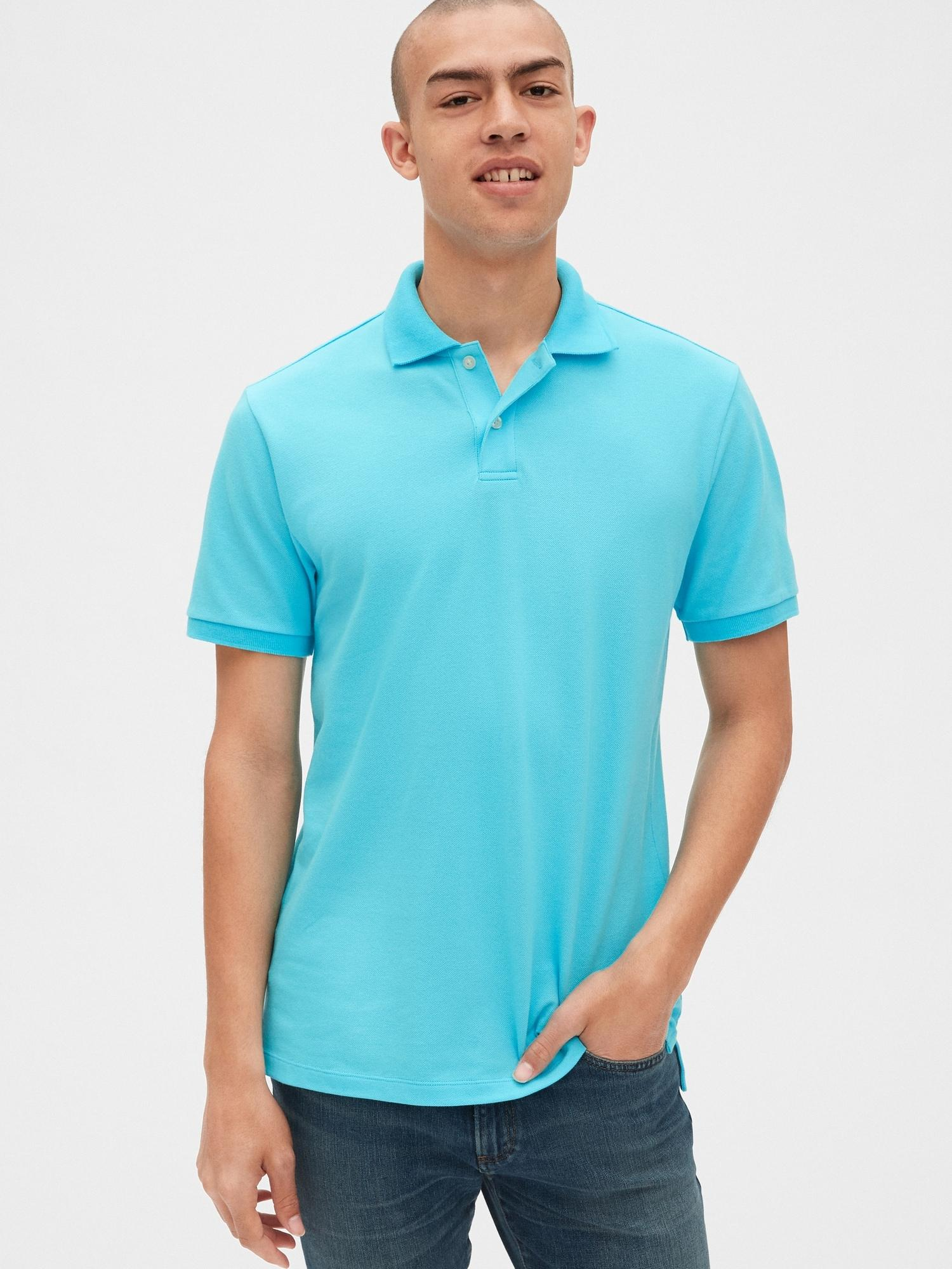 db8885b34 Lyst - Gap All Day Pique Polo Shirt in Blue for Men
