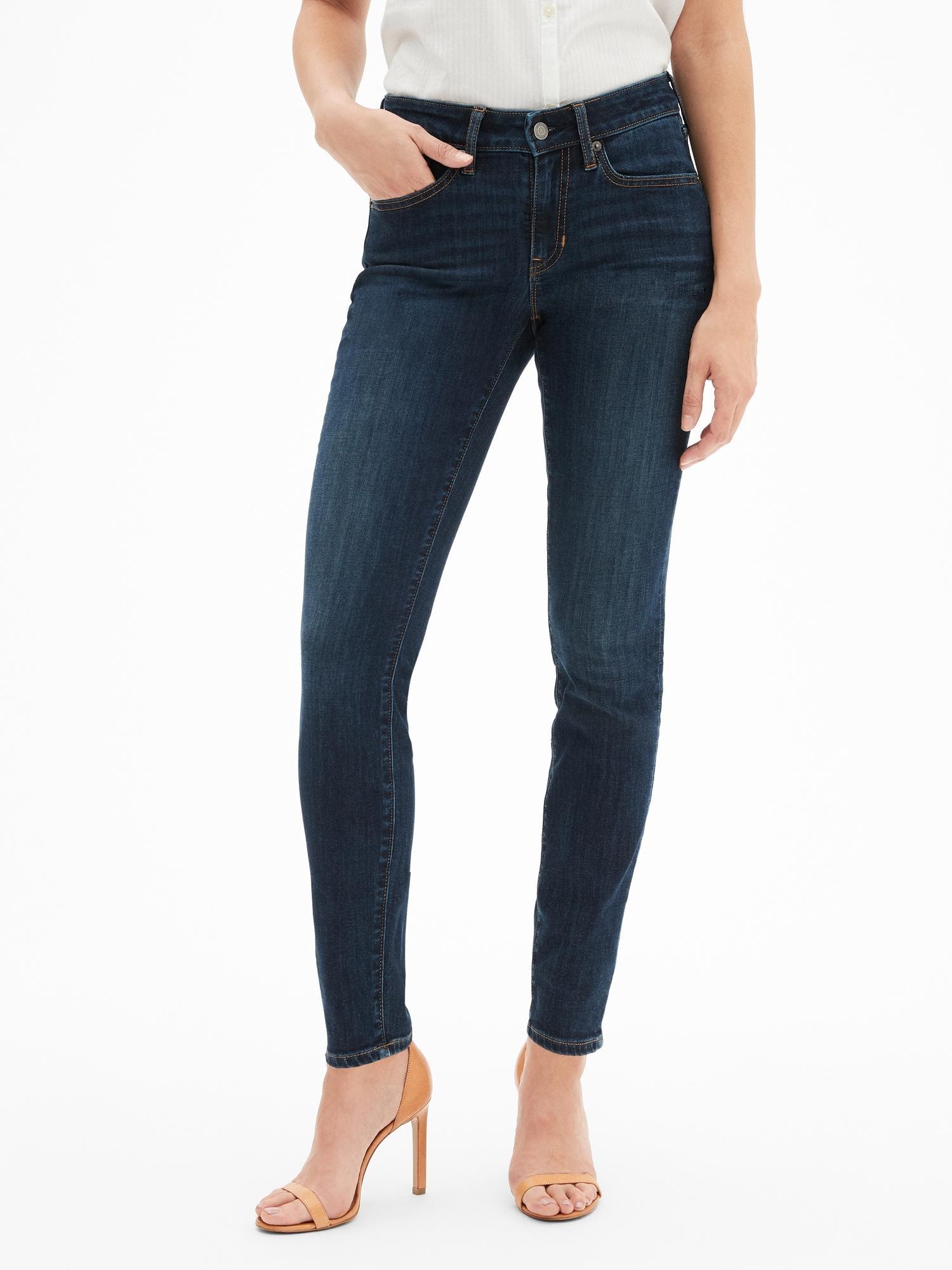 2c817d866a9a0 Lyst - GAP Factory Mid Rise Curvy Legging Skimmer Jeans in Blue