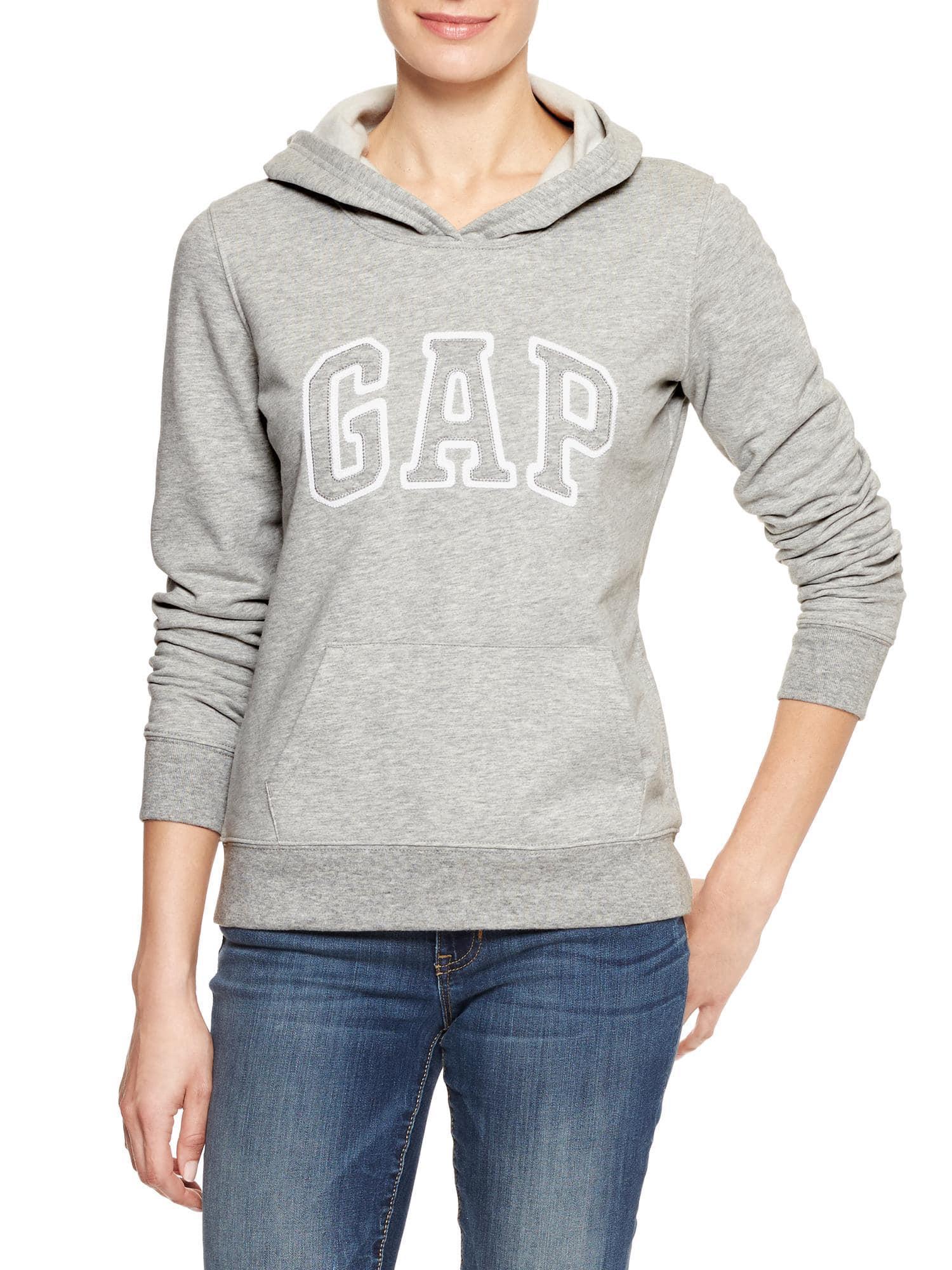 Lyst Gap Factory Arch Logo Hoodie In Gray