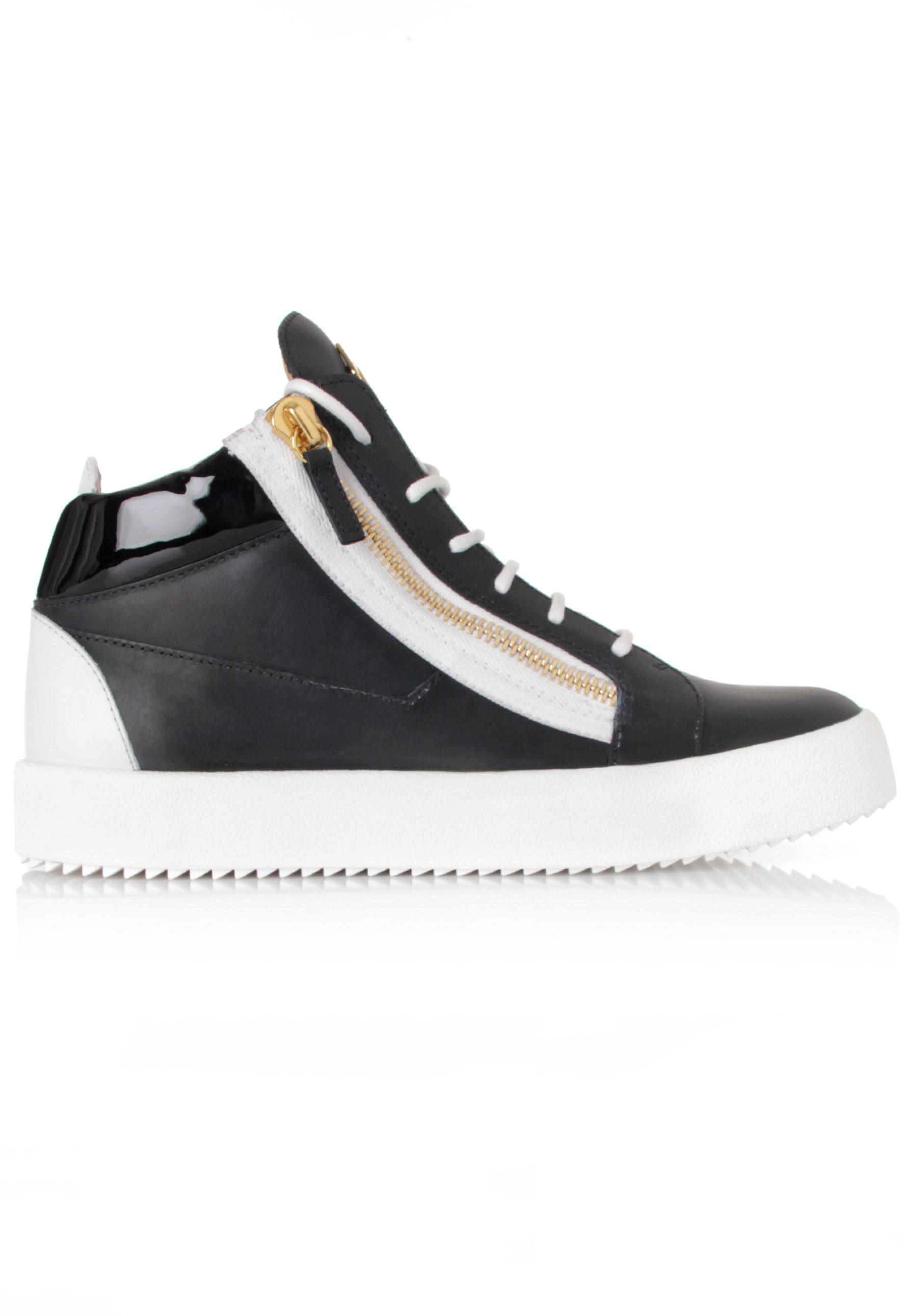 08d3a6a32017d Lyst - Giuseppe Zanotti Kriss Mid-top Sneakers Black/white in Black ...