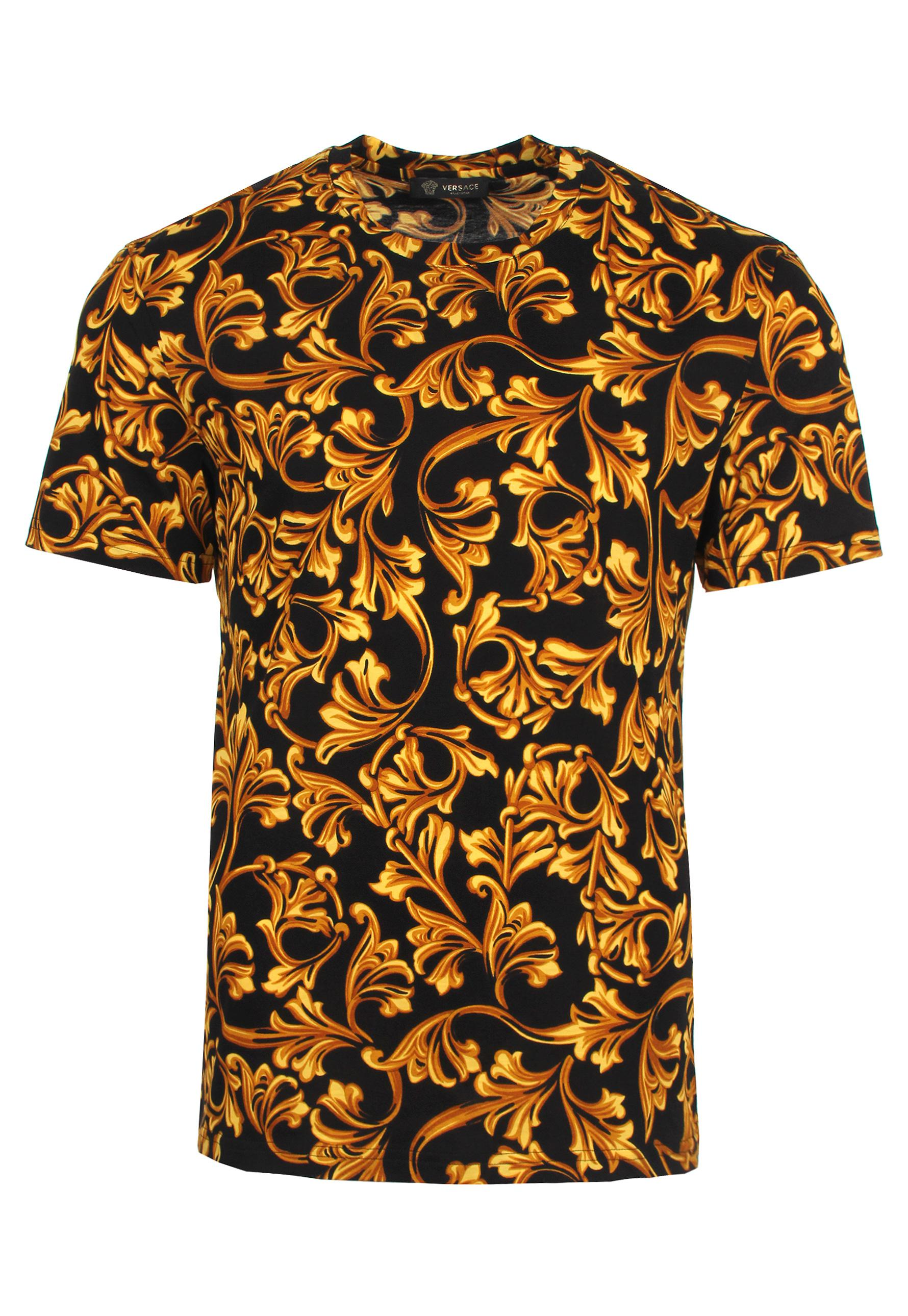 lyst versace all over baroque t shirt black gold for men. Black Bedroom Furniture Sets. Home Design Ideas