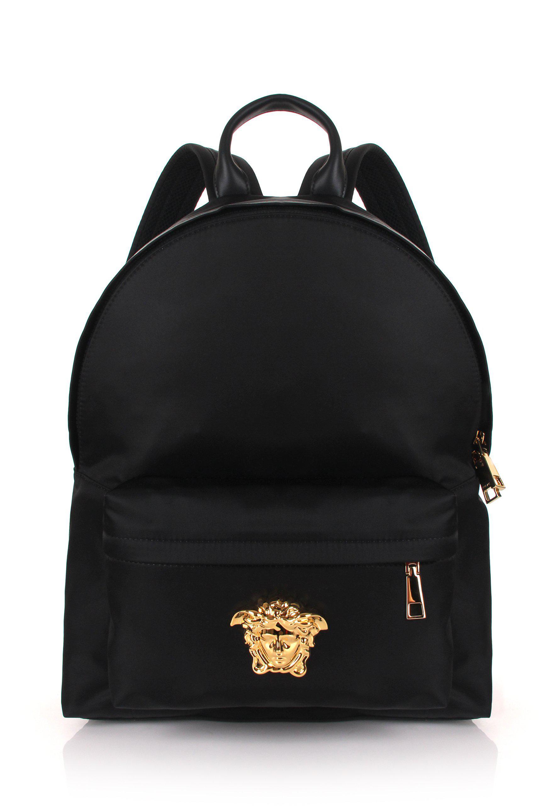 991ced7bc768 Mens Medusa Nylon Backpack Blackgold buy online 1c568 0dbc5  Versace ...