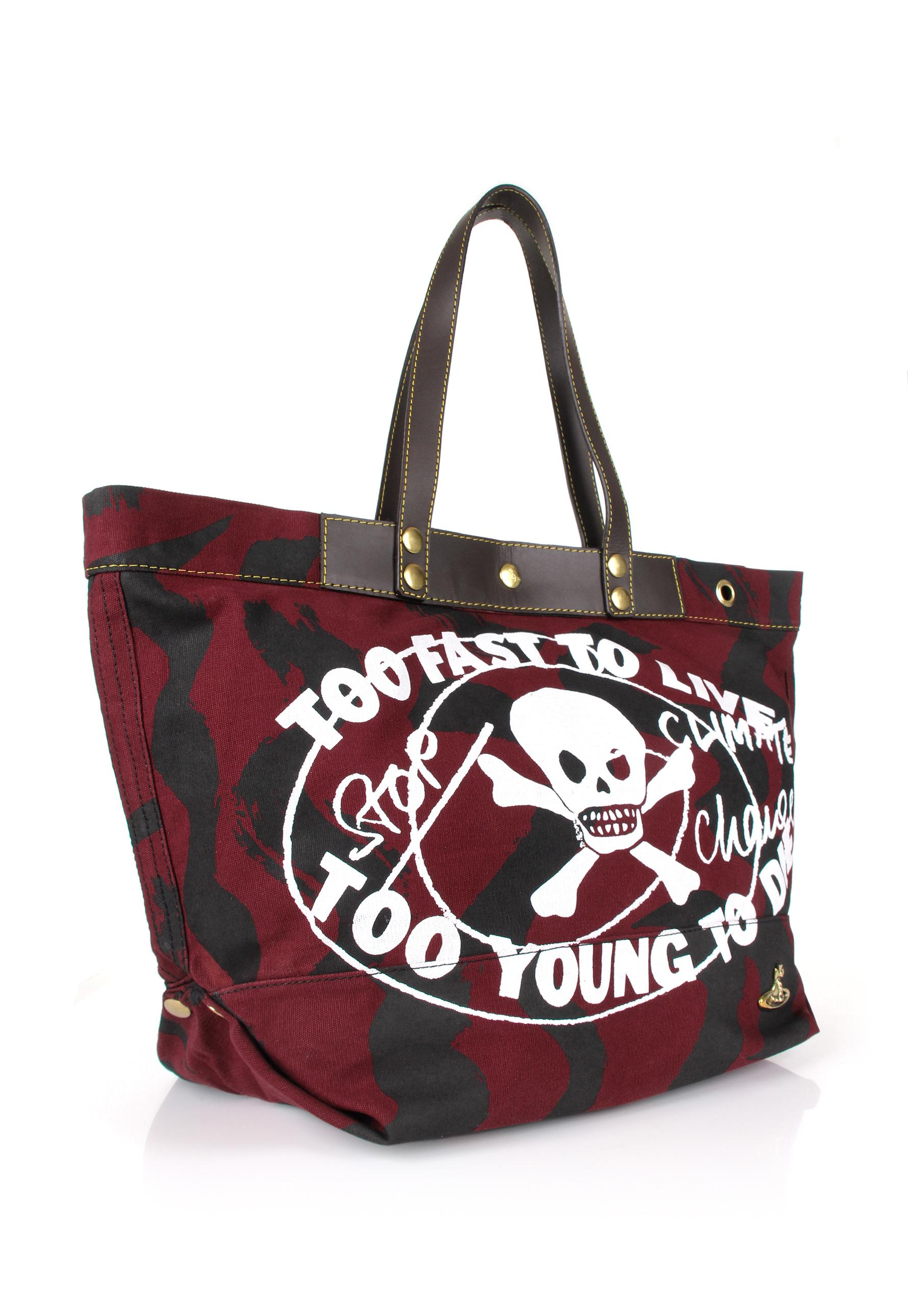 13e7d3f981 Lyst - Vivienne Westwood Too Fast To Live Shopper Red black in Red