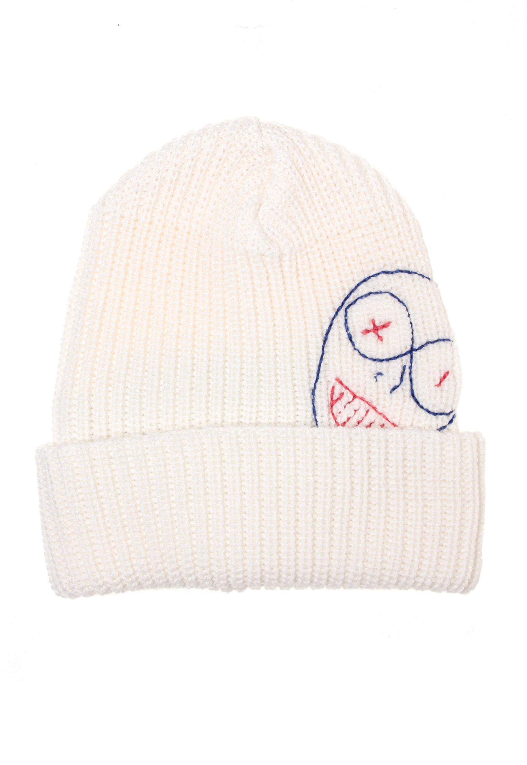 Lyst - Vivienne Westwood Puppet Embroidery Beanie Hat Off White in White 9532d4ec6e8