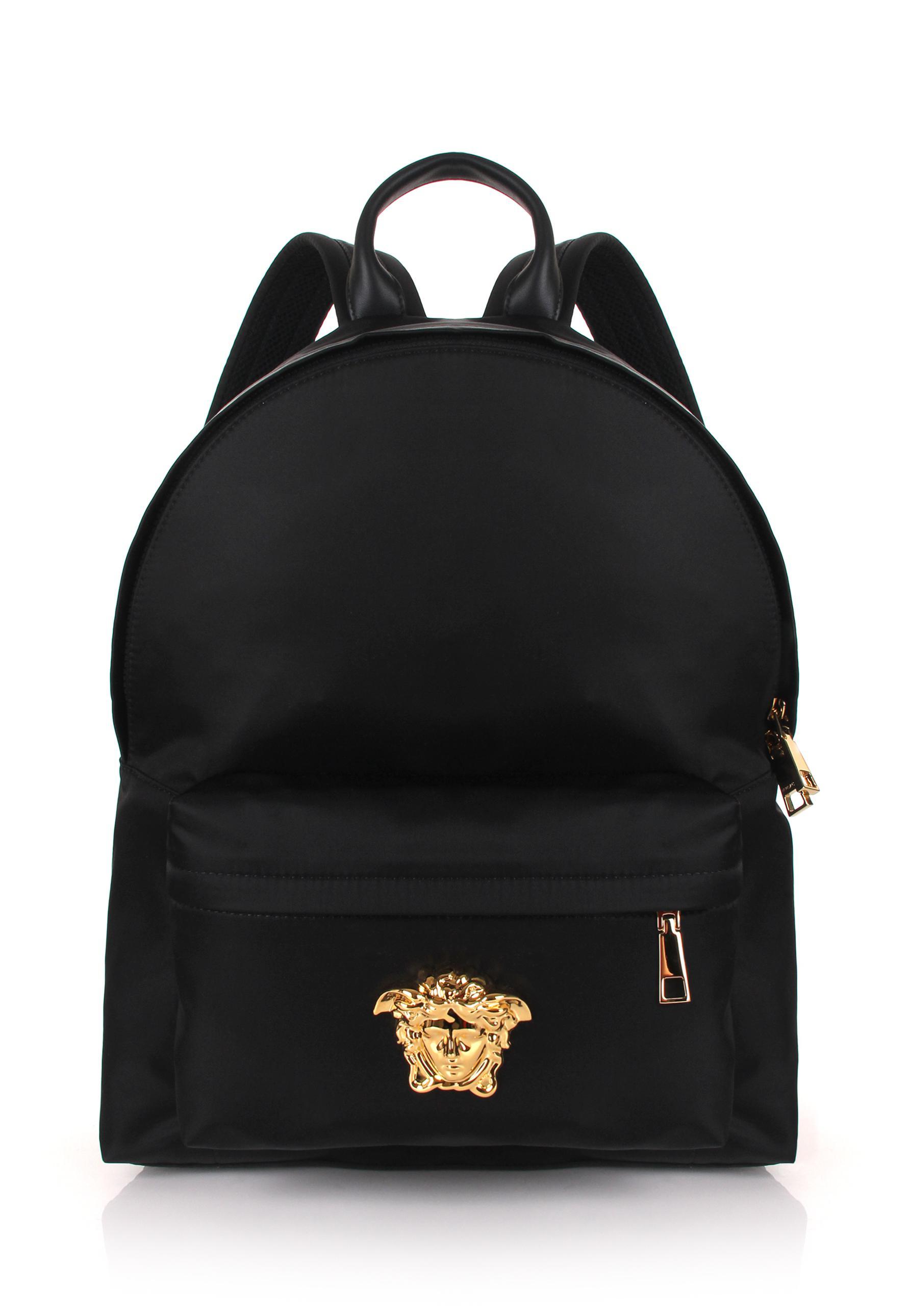 VERSACE Small nylon backpack 2sQ5jC6Pjl