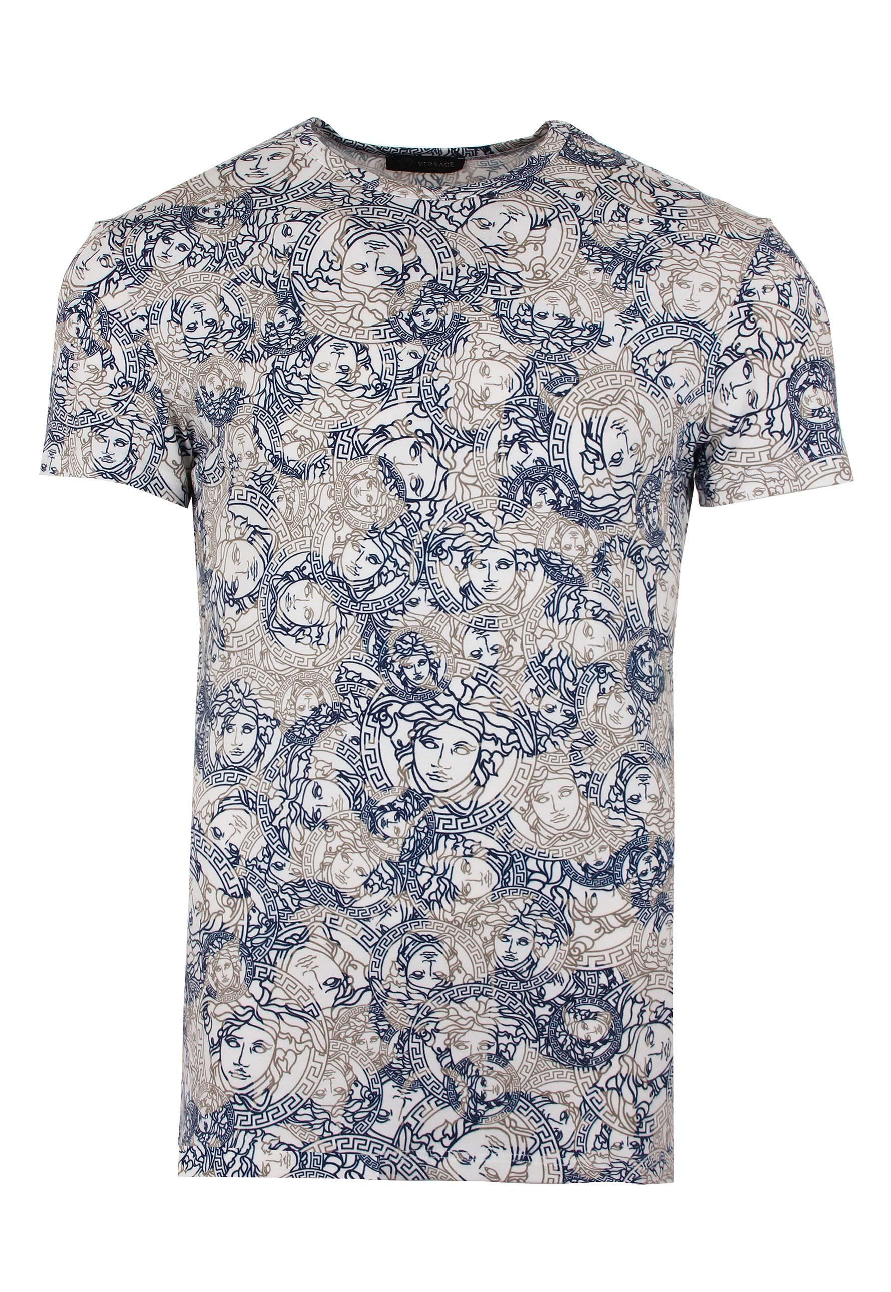 973cfaa2 Versace Multi Medusa Overlap T-shirt White/print in White for Men - Lyst