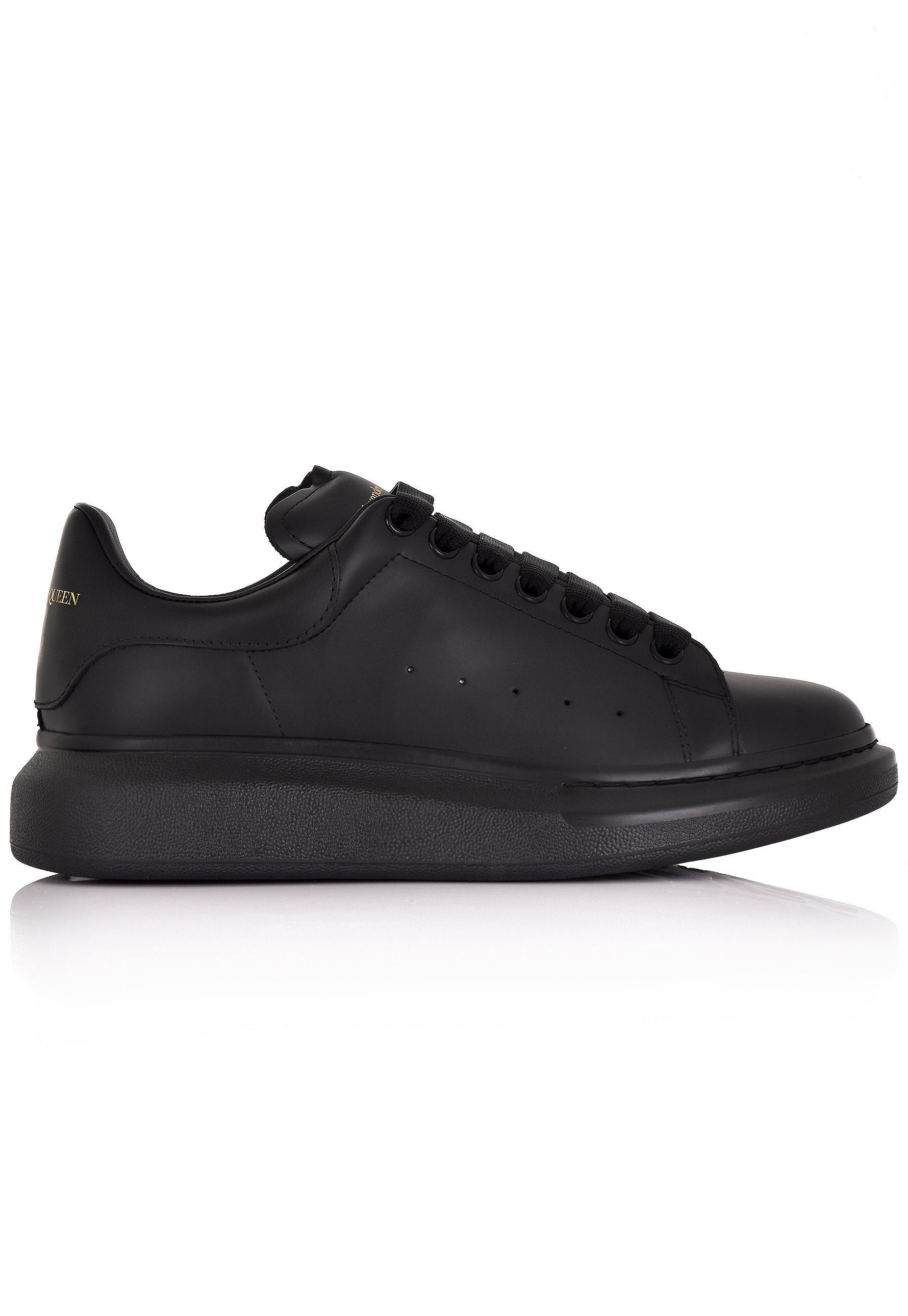 40e017b8bb0d96 Lyst - Alexander McQueen Men s Oversized Sneakers Triple Black in ...
