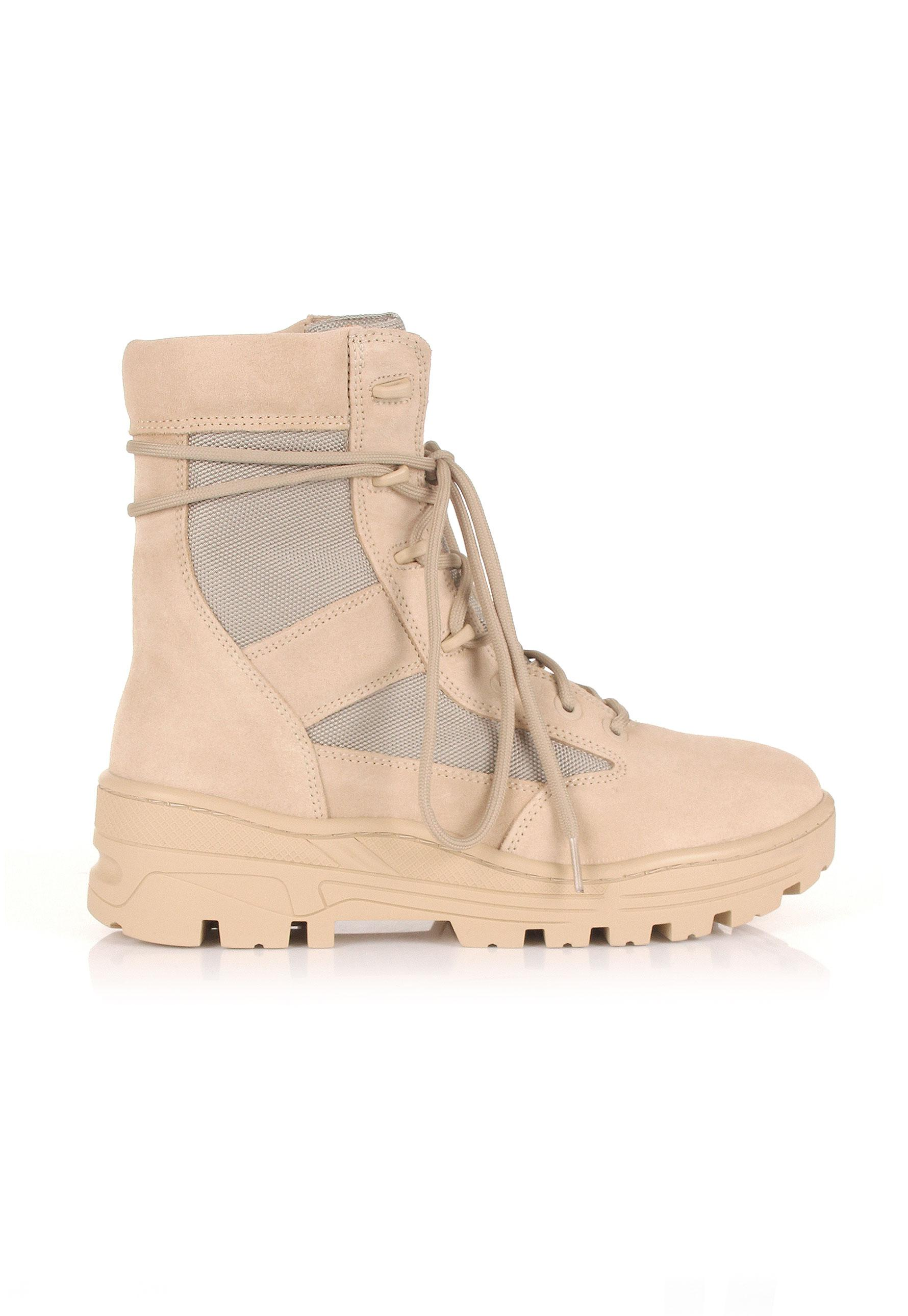 0dd876bba Lyst - Yeezy Season 4 Combat Boots Sand in Natural