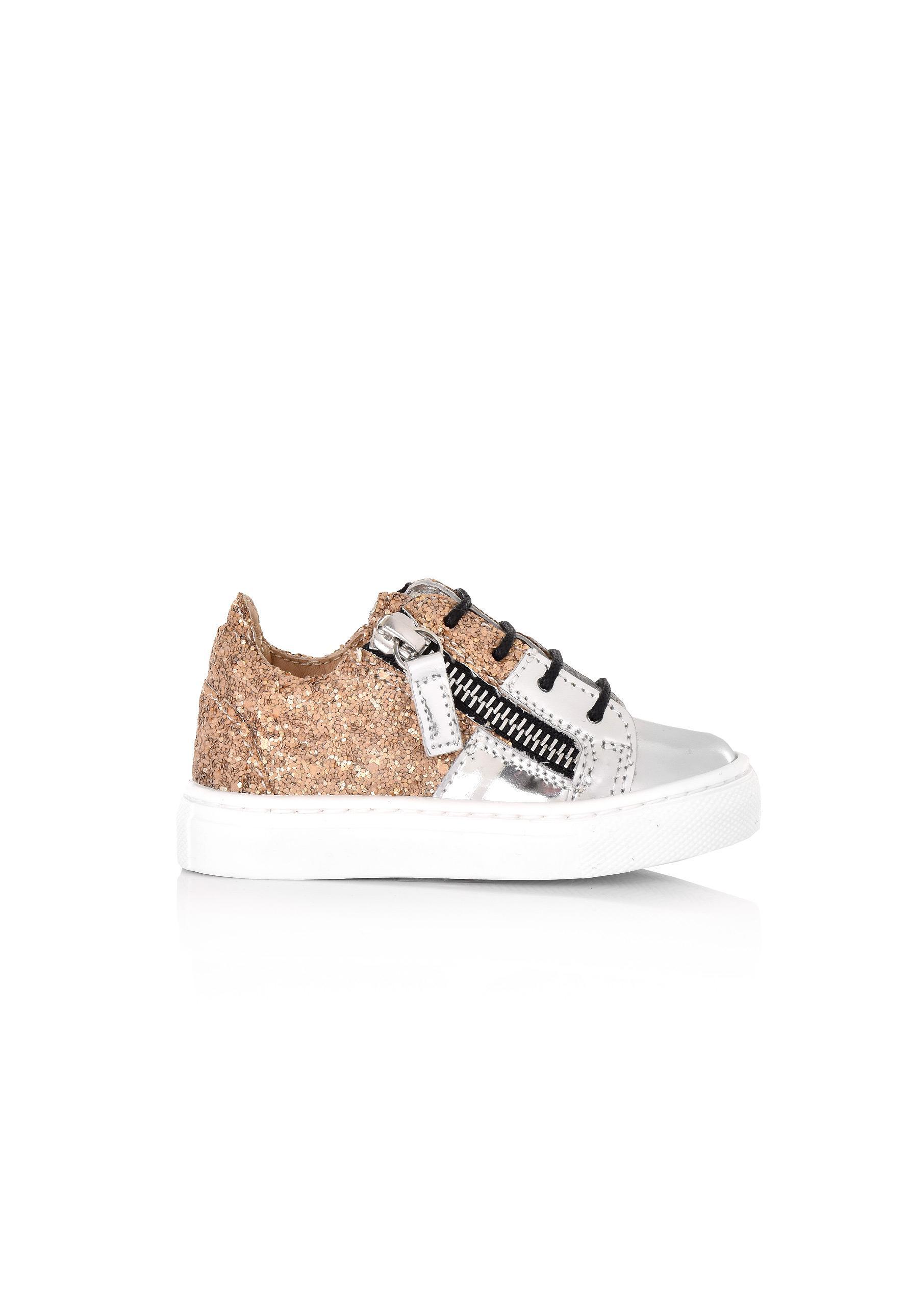 78fb8da0f38e Lyst - Giuseppe Zanotti Kids Cheryl Glitter Jr. Sneakers Metallic ...