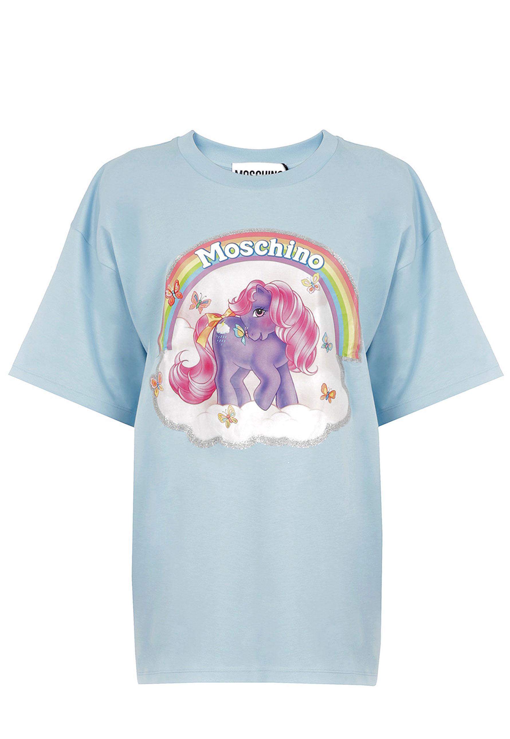 445b4adb6f6 Lyst - Moschino My Little Pony Oversized T-shirt Light Blue in Blue