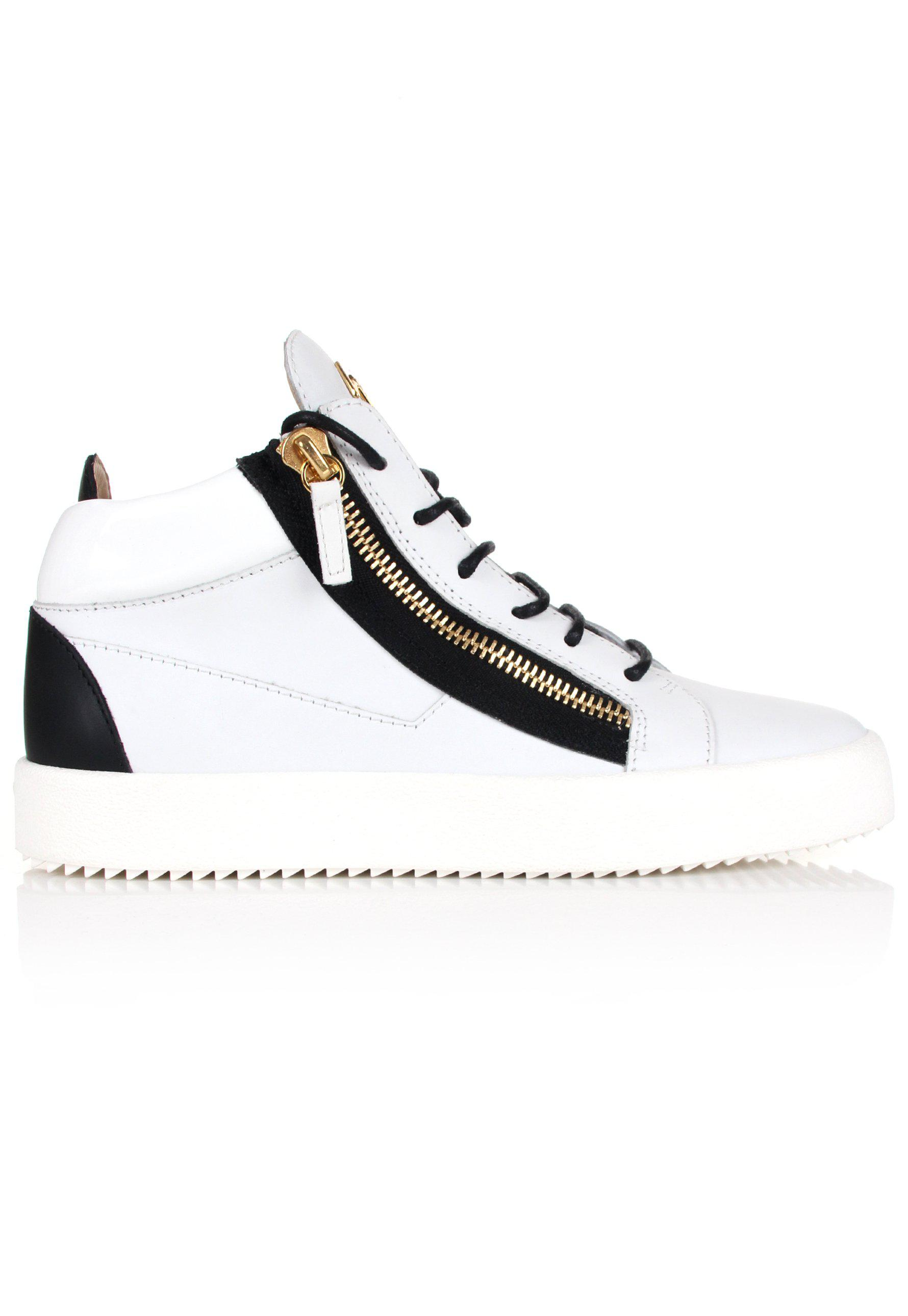 ac872d3ffa1d1 Giuseppe Zanotti Kriss Mid-top Sneakers White/black in White for Men ...